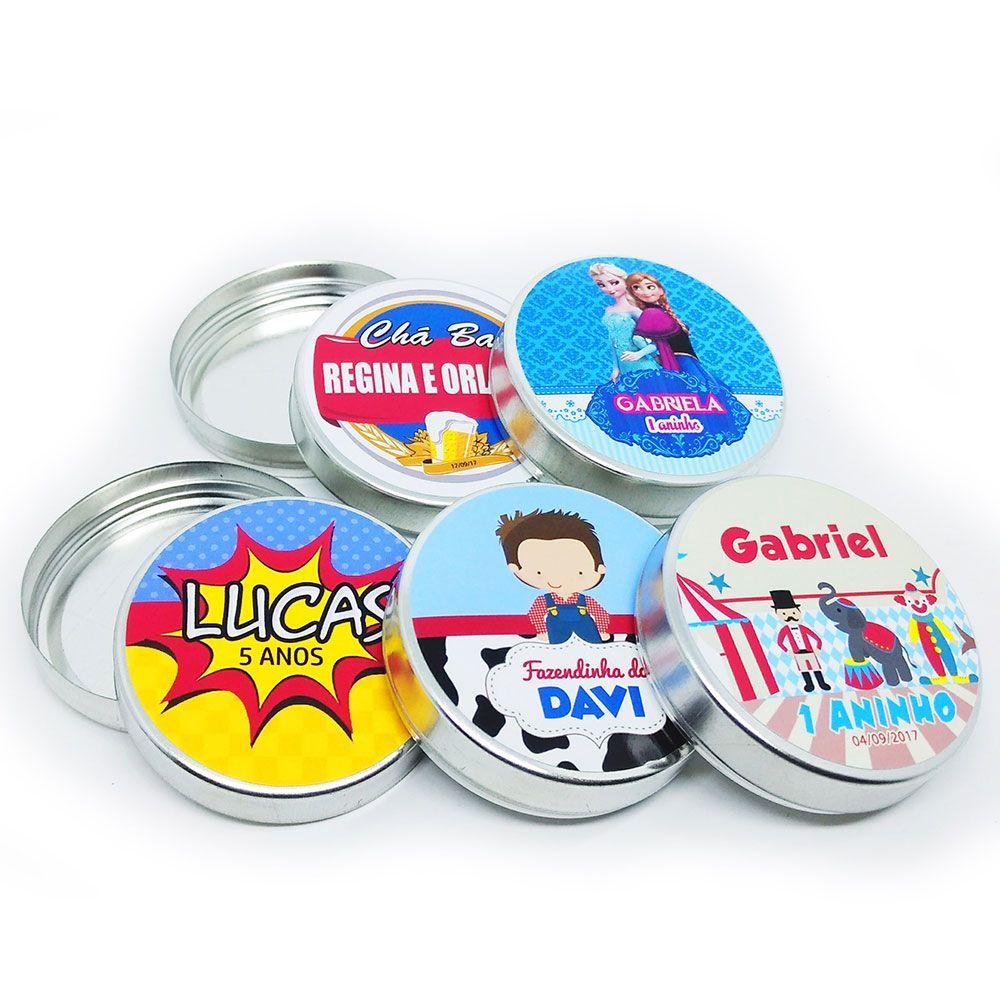 15x Latinha Personalizada - Pacote com 15 unidades