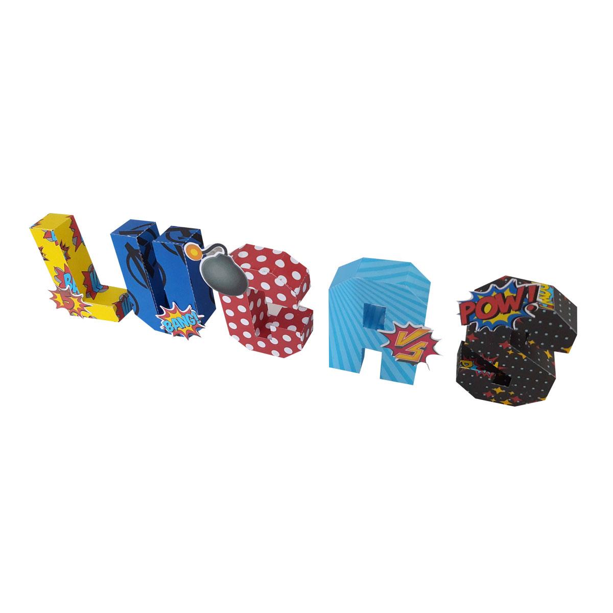 Letra 3D - Unidade