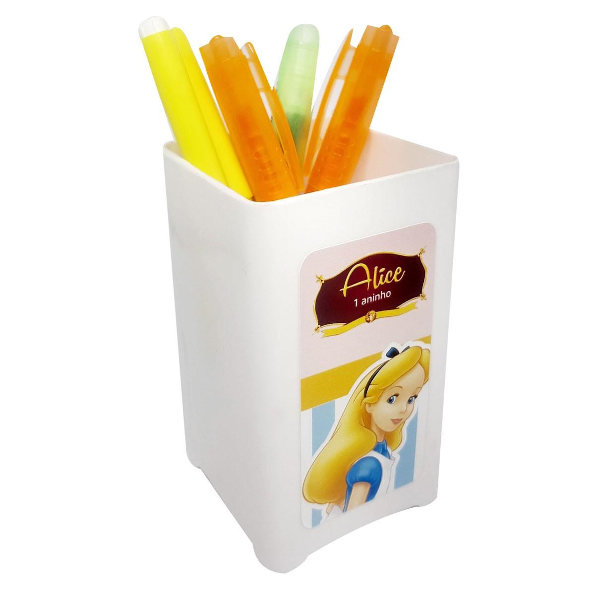 15x Porta Lápis Personalizado - Pacote com 15 unidades