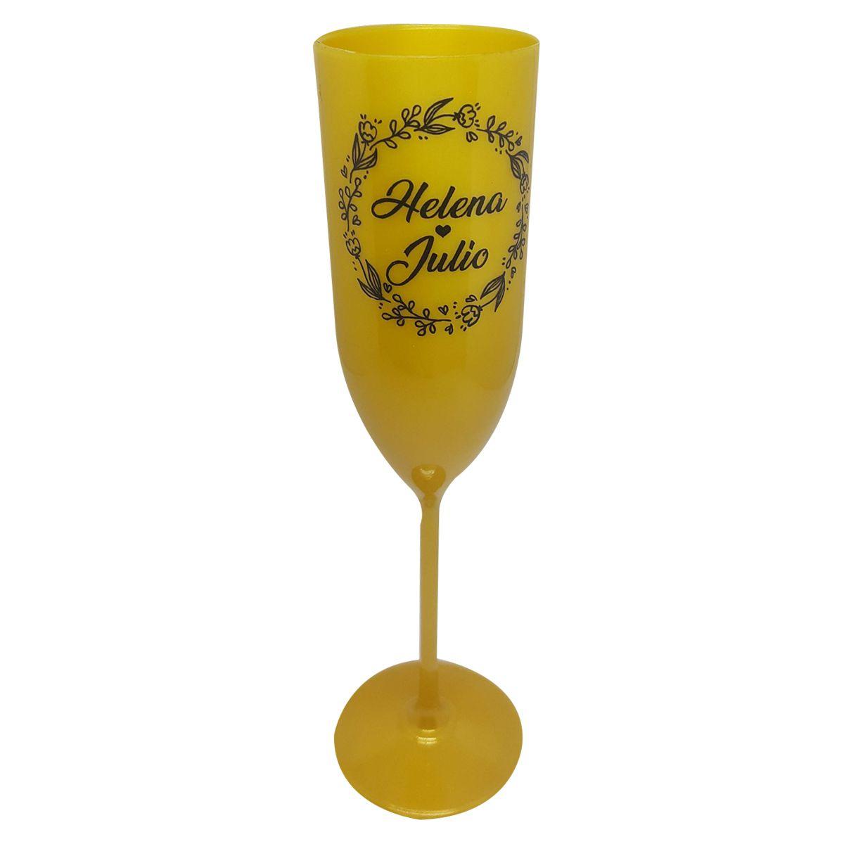 10x Taça de Champagne -Cores Claras e Estampa Preta - Pacote com 10 unidades