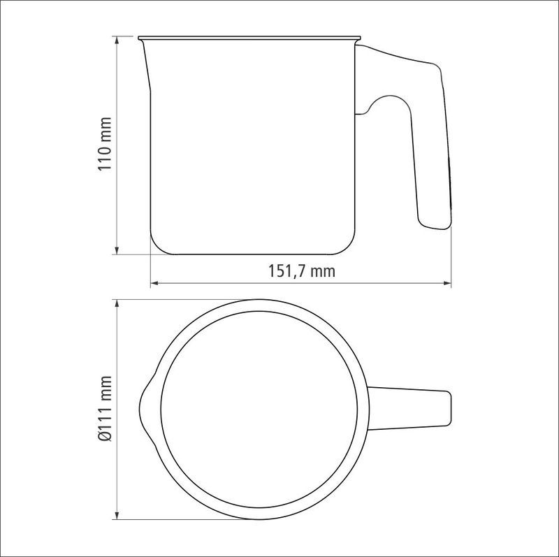 Fervedor de Aluminio 10cm PARIS - Cor Grafite