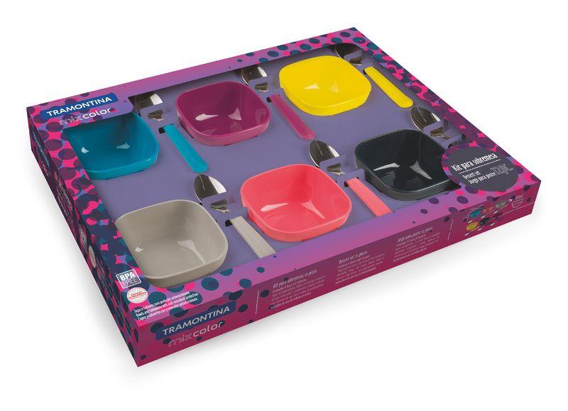Jogo de Sobremesa 12 peças Mix Color Mis