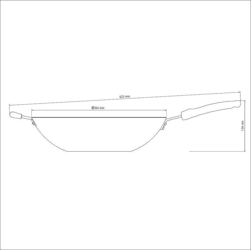 WOK Aluminio 36cm LORETO - Cor Grafite