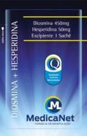Diosmina + Hesperidina em sache c/60 unidades - Tratamento de varizes  - Medicanet