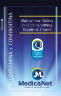 Glucosamina 1500 mg + Condroitina 1200 mg c/30 sachês - Recompositor de Cartilagem  - Medicanet