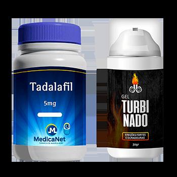 Kit Tadalafil 5mg uso diário C/60CAPS + Gel Turbinado para Ereção  - Medicanet