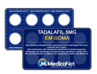 Tadalafil 5mg em Goma sabor Limão  - Medicanet