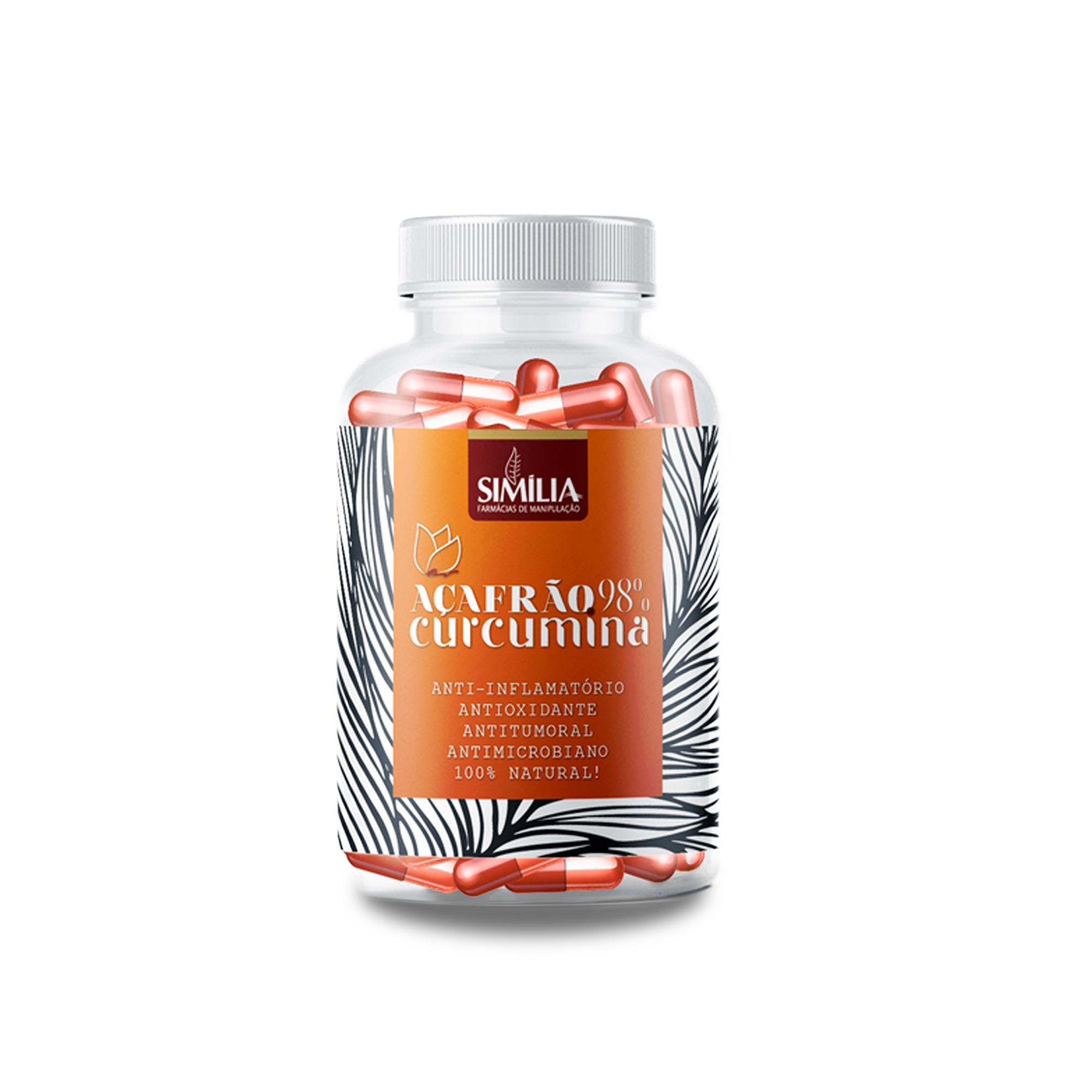 Açafrão Extrato Seco Padronizado 98%  Curcuminas 300mg 30  Cápsulas