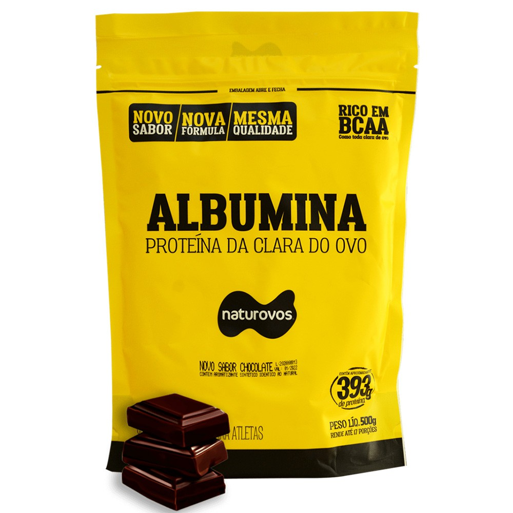 Albumina Naturovos Chocolate 500g