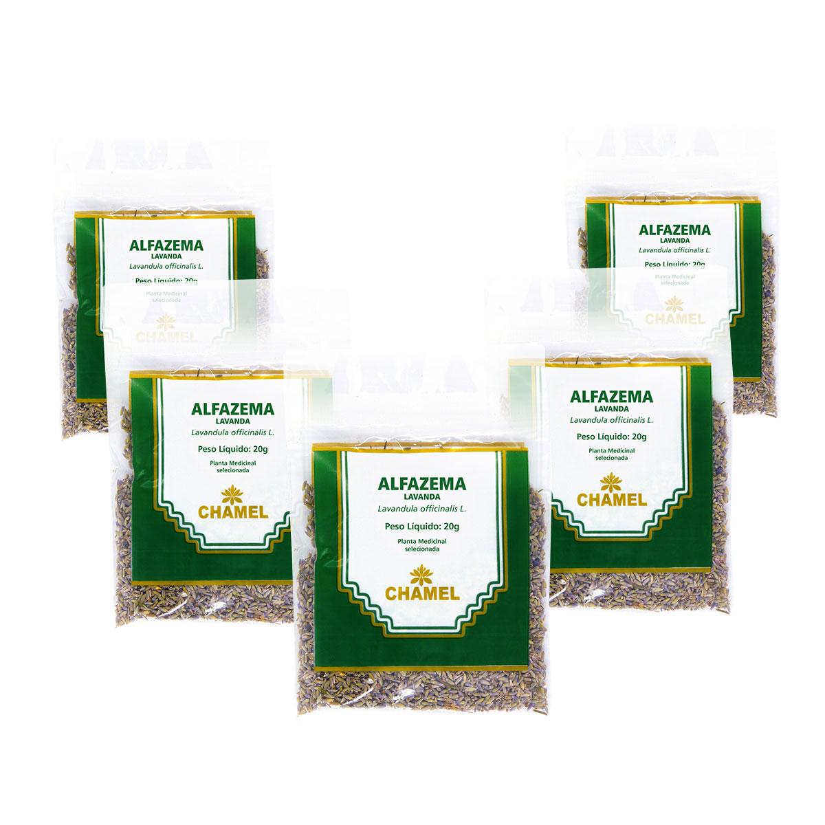 Alfazema 20g Chamel com 5 unidades- Chá Flores.