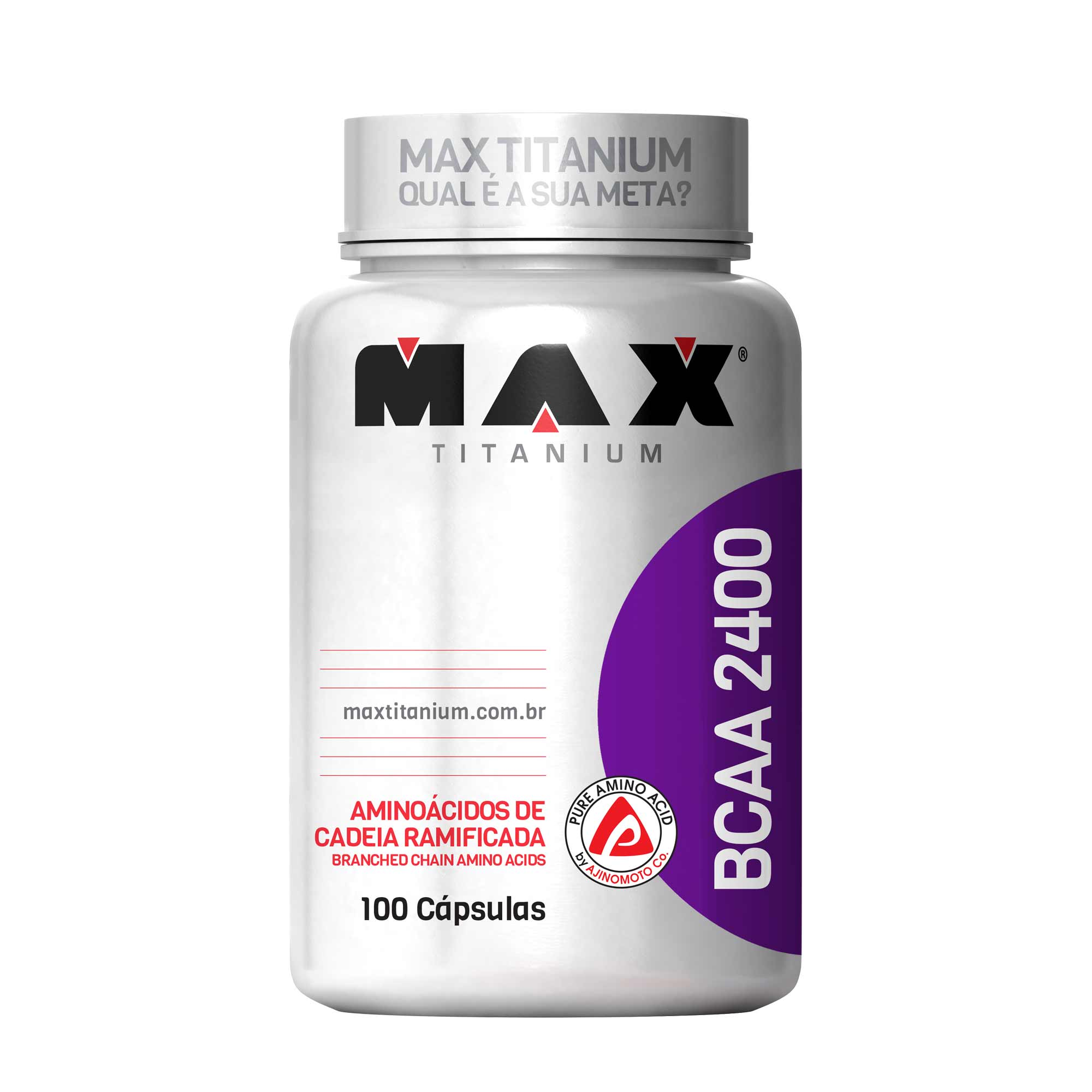 BCAA 2400mg 100 cápsulas Max Titanium