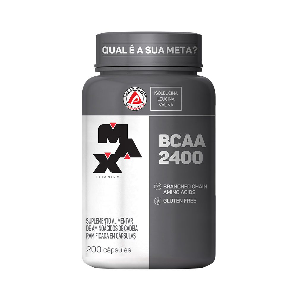 BCAA 2400mg 200 cápsulas Max Titanium