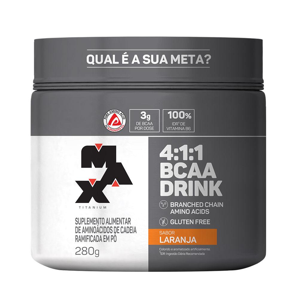 BCAA Drink 4:1:1 Laranja 280g Max Titanium