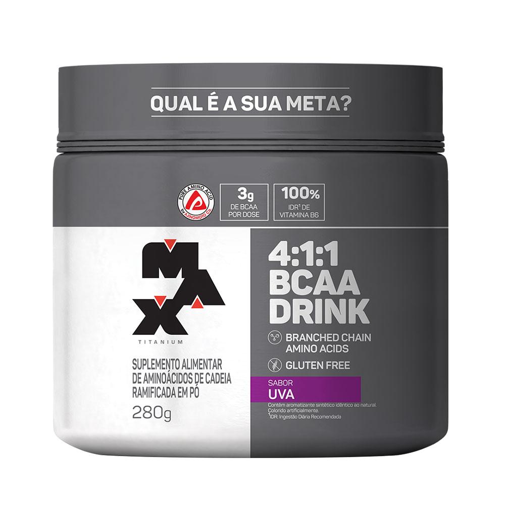 BCAA Drink 4:1:1 Uva 280g Max Titanium