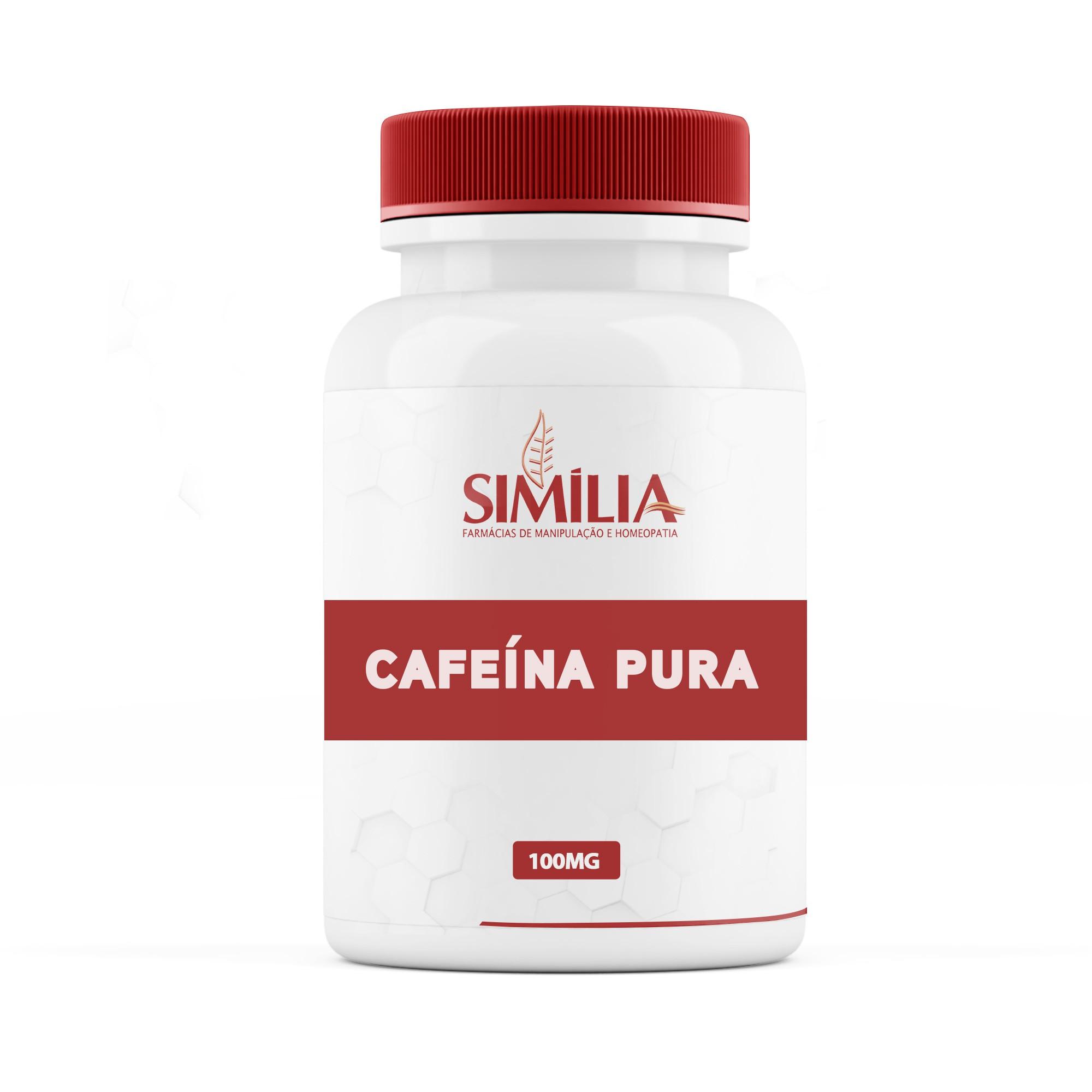 Cafeína Pura 100mg 60 cápsulas