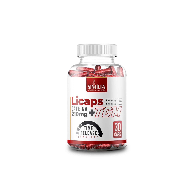 Cafeína 200mg + TCM 500mg - Tecnologia Licaps 30 cápsulas