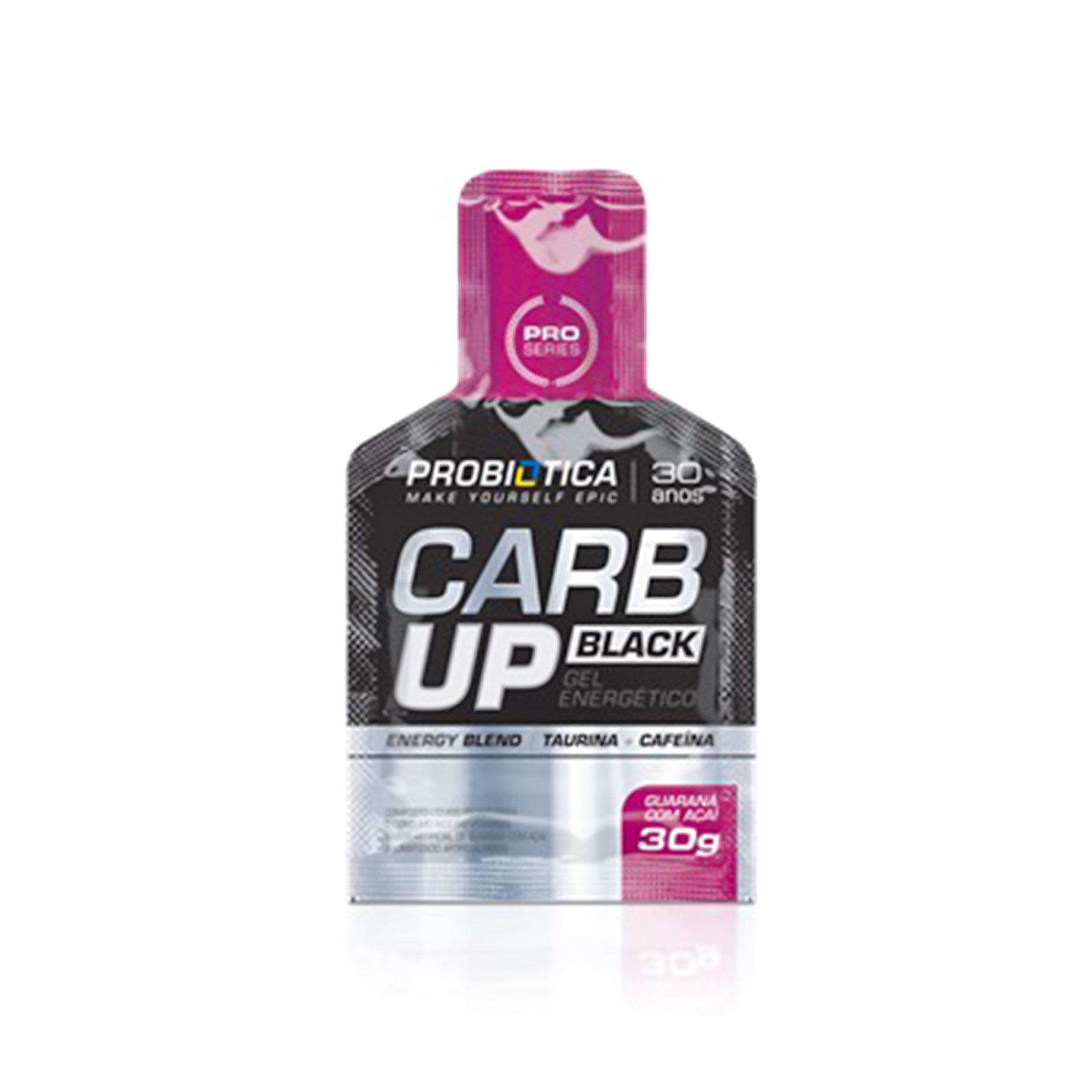 Carb up Gel Black Açai c/ guaraná Probiotica 30g