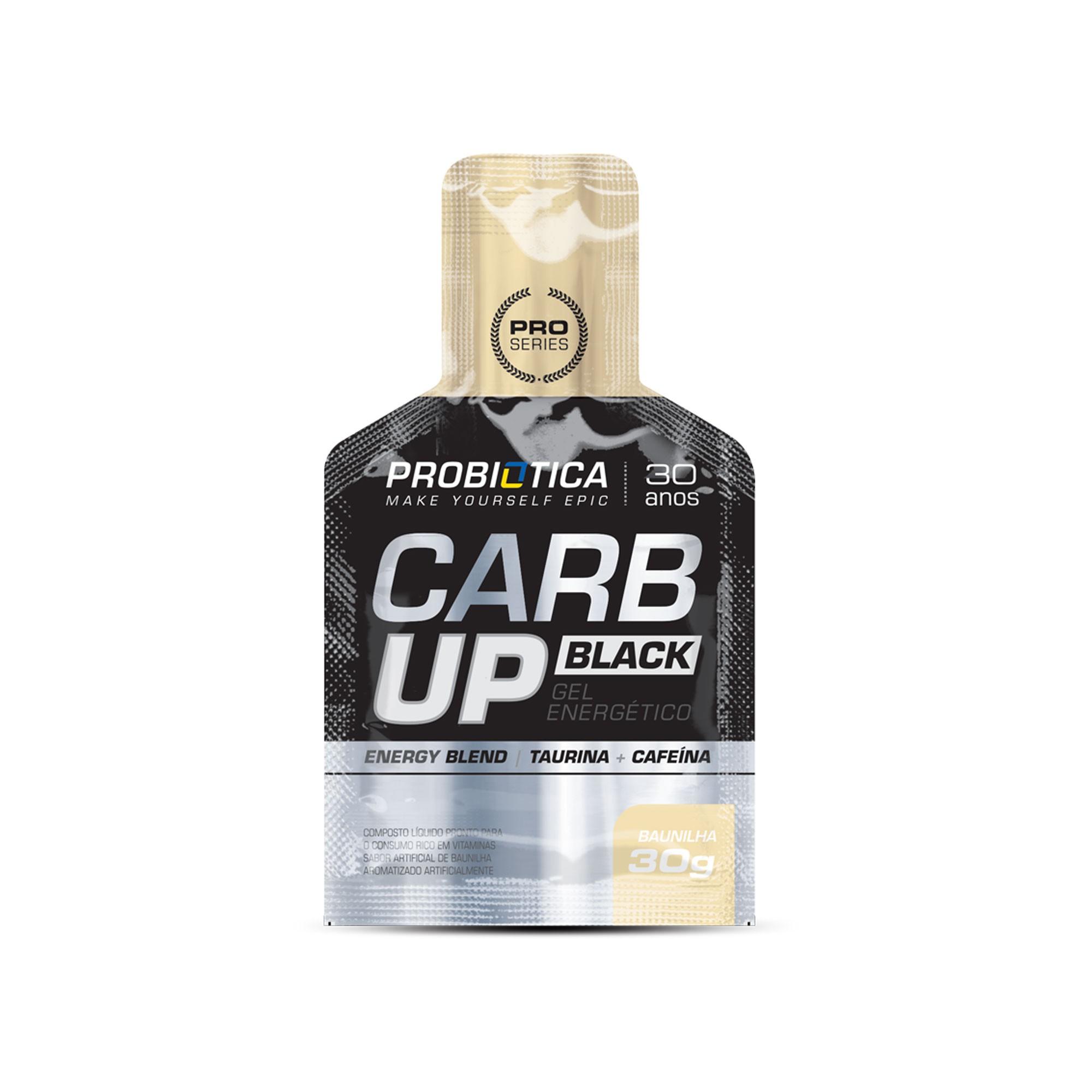 Carb up  Black Gel energético Baunilha Probiotica 30g