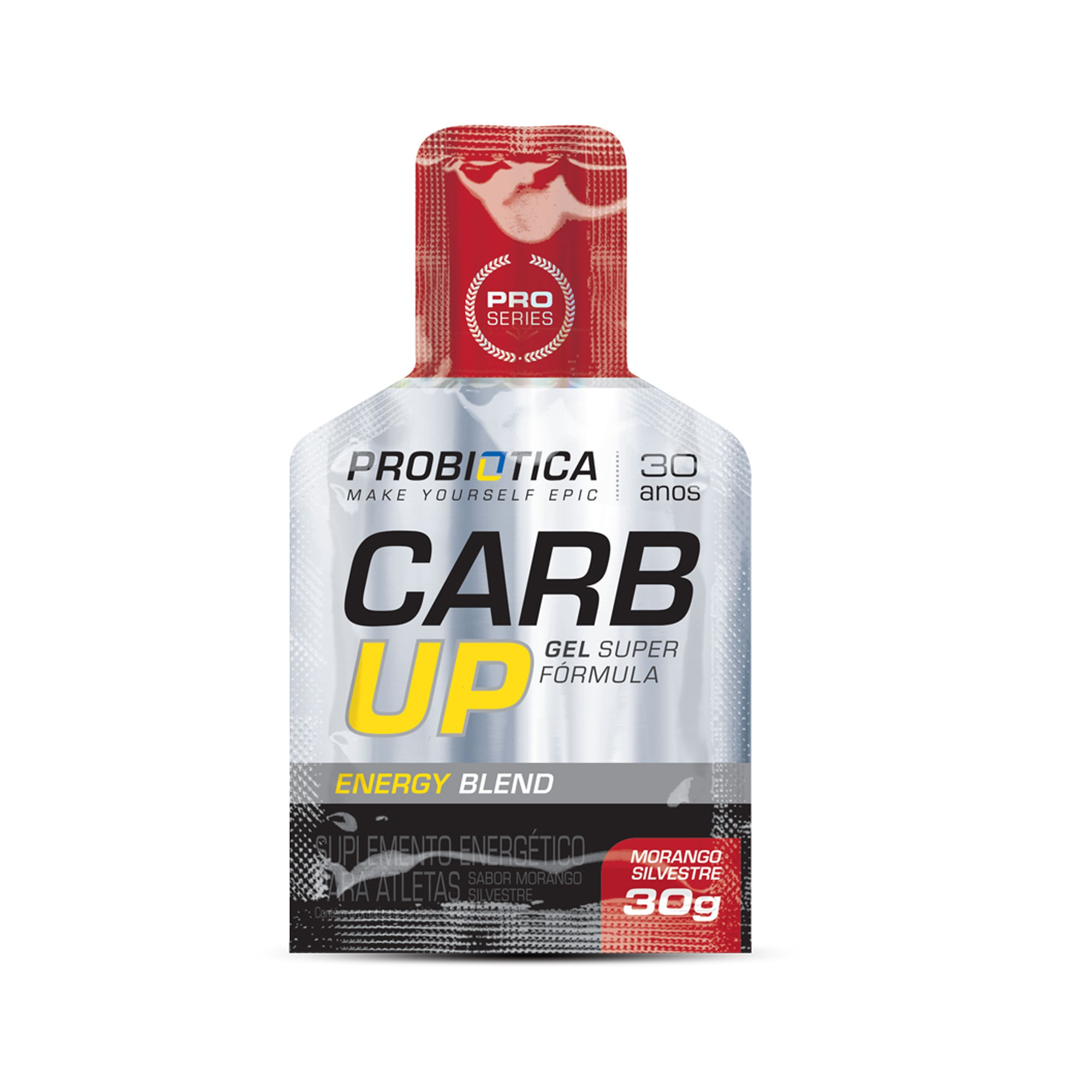 Carb up Gel Super Fórmula Morango Probiotica 30g