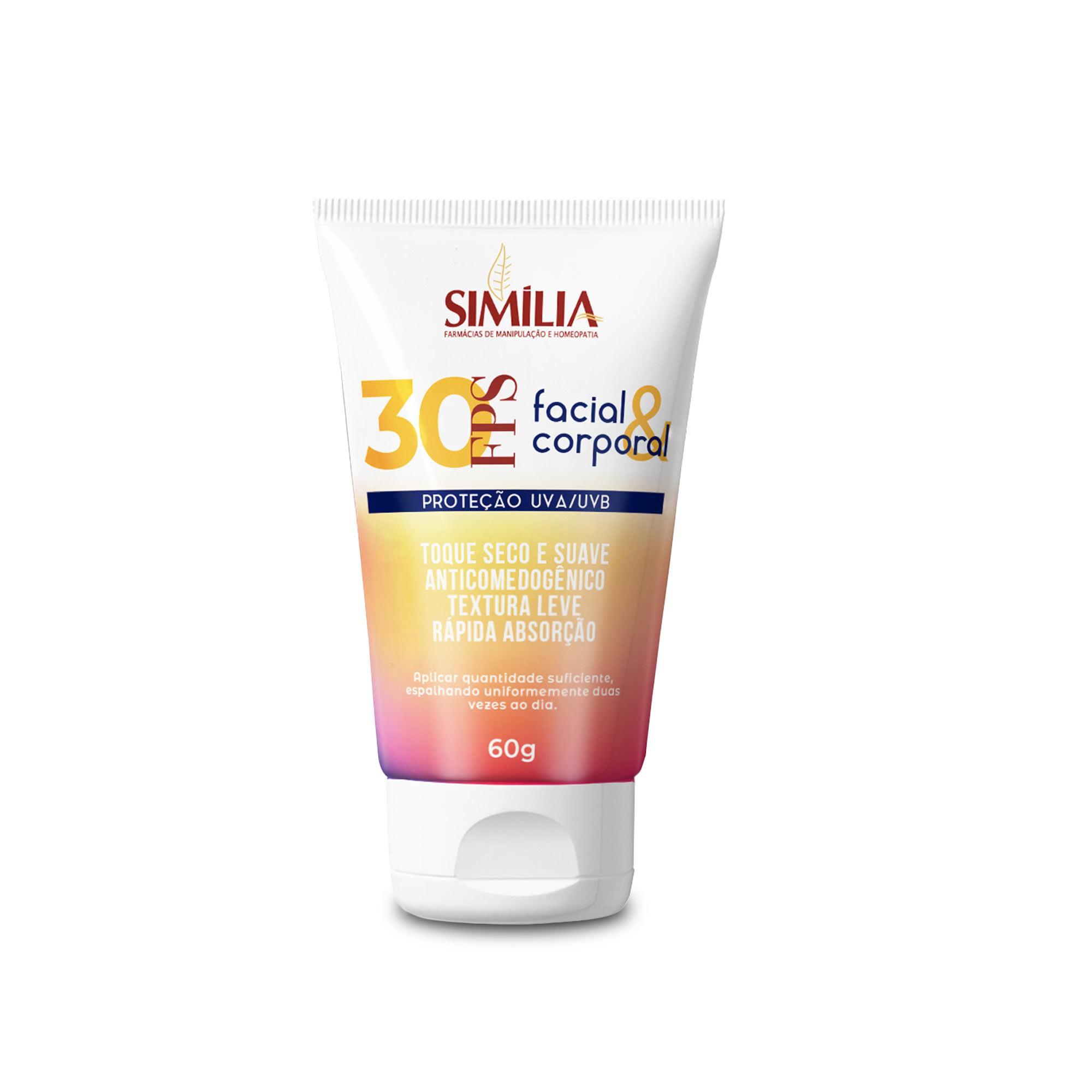 Filtro Solar FPS 30 Toque Seco Face e Corpo 60g