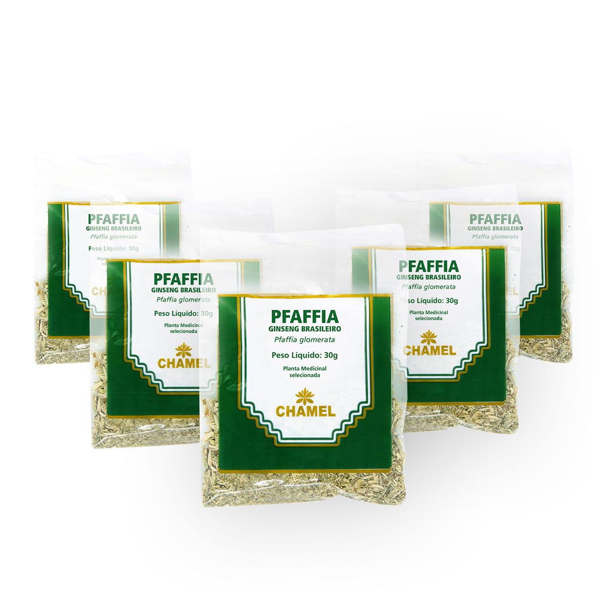 Ginseng Brasileiro 30g Chamel com 5 Unidades - Chá Raiz