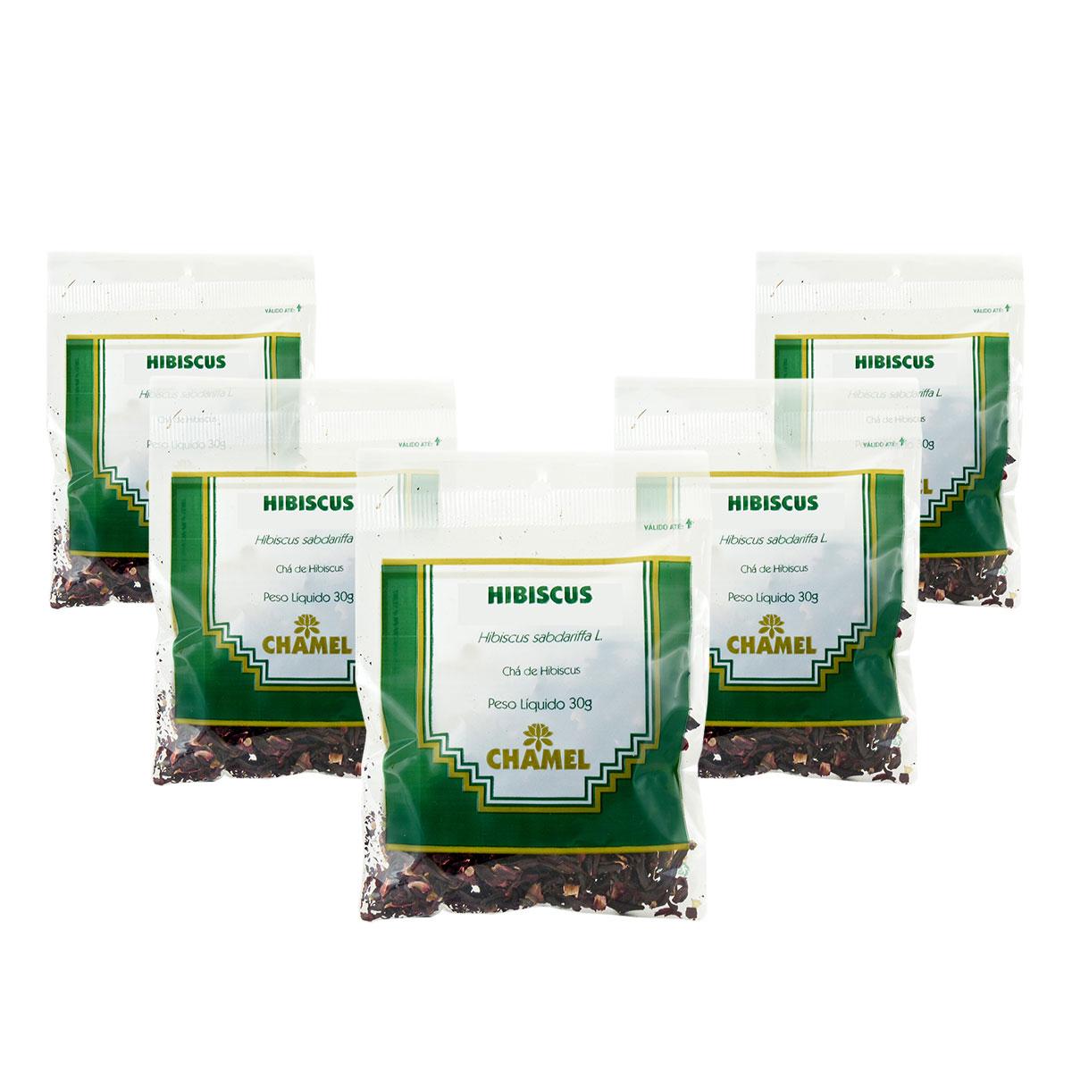 Hibiscus 30g Chamel com 5 Unidades - Chá Flores