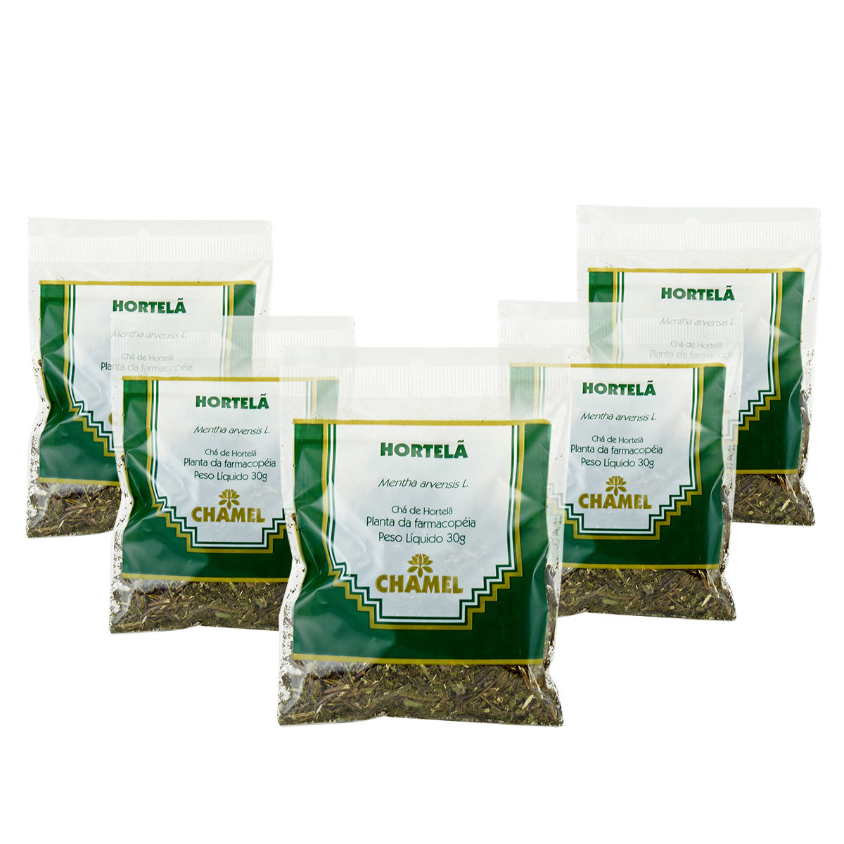 Hortelã Pimenta 30g Chamel com 5 Unidades - Chá Folhas.
