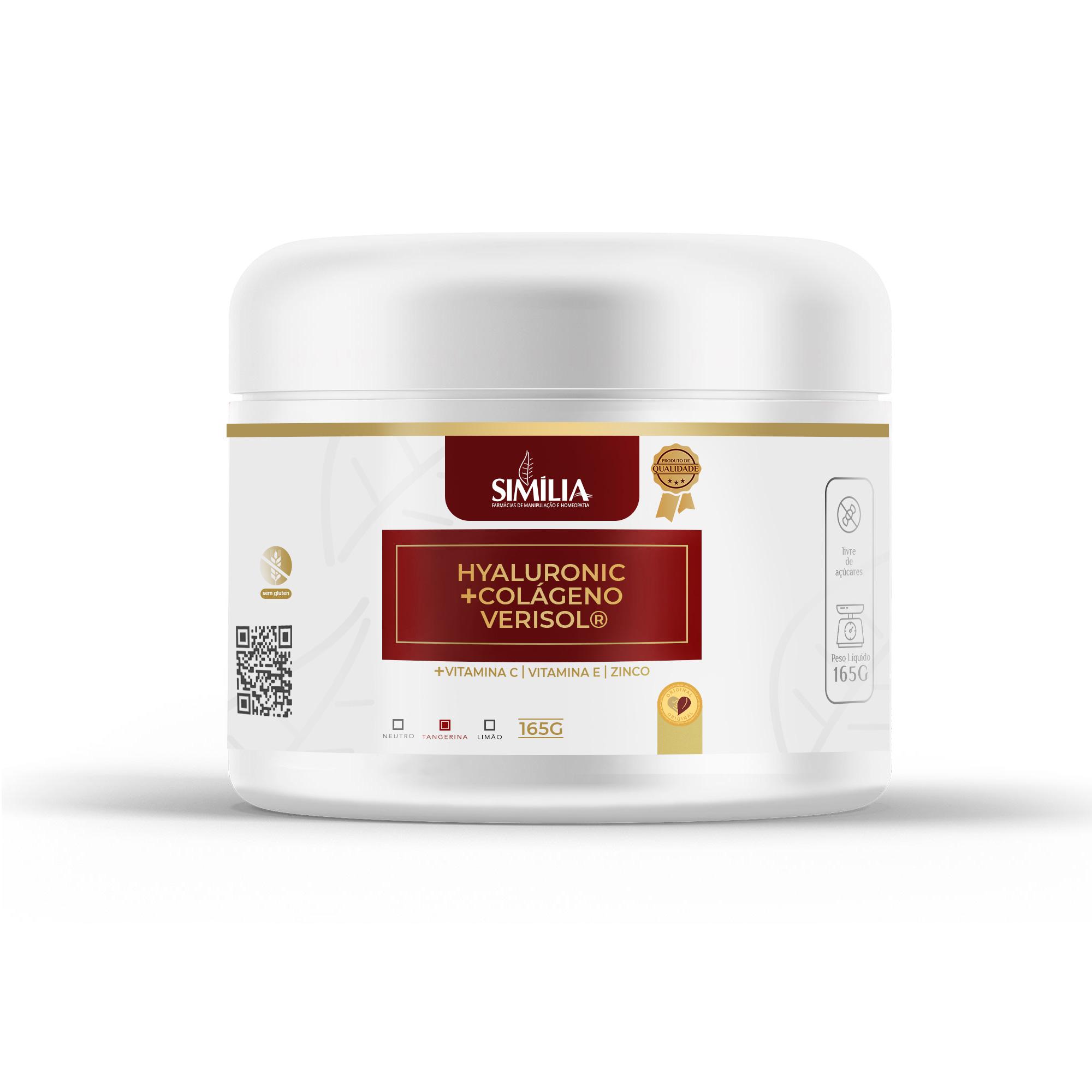 Hyaluronic Colágeno Verisol® + Ácido Hialurônico Sabor Tangerina 165g