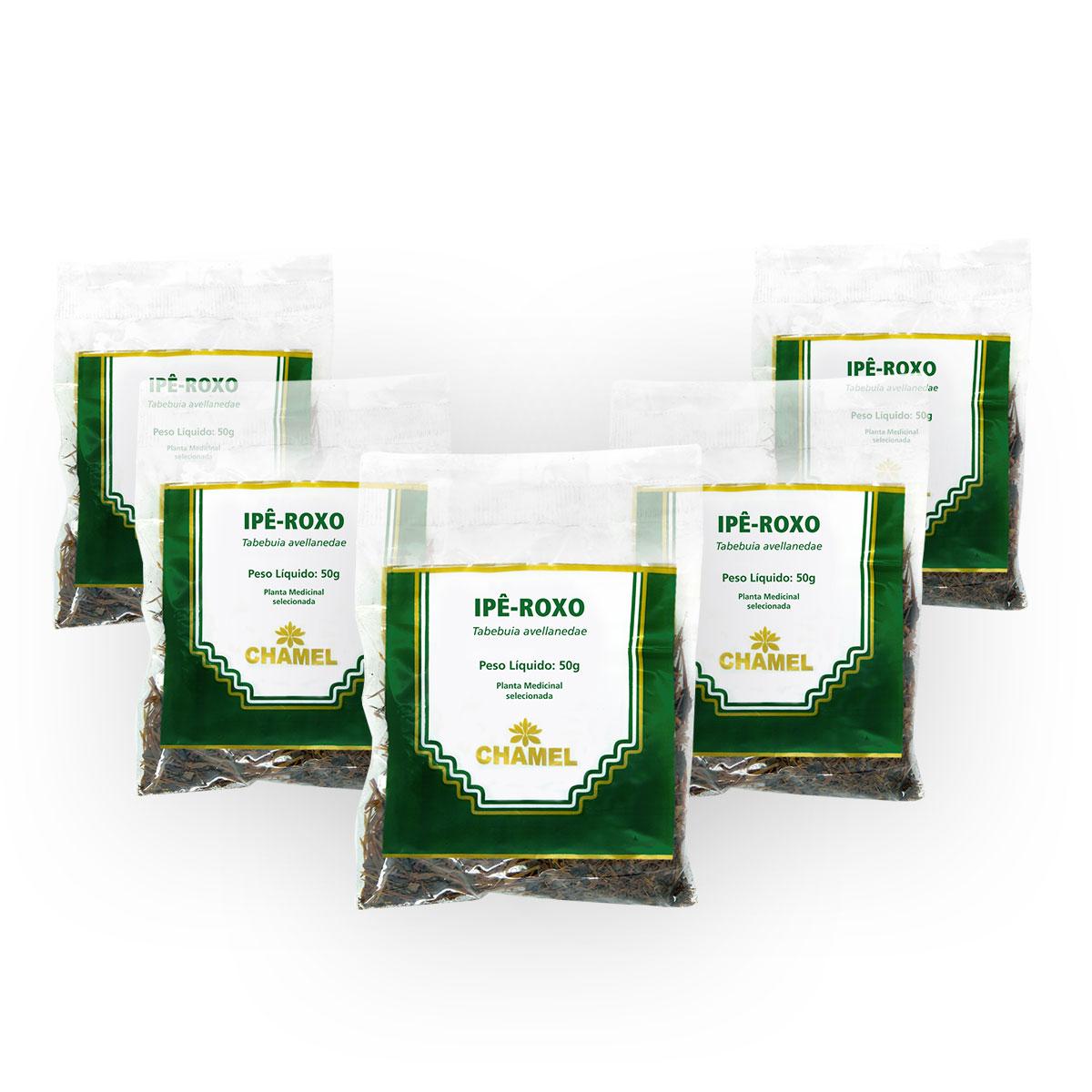 Ipê Roxo 50g Chamel com 5 Unidades - Chá-Cascas