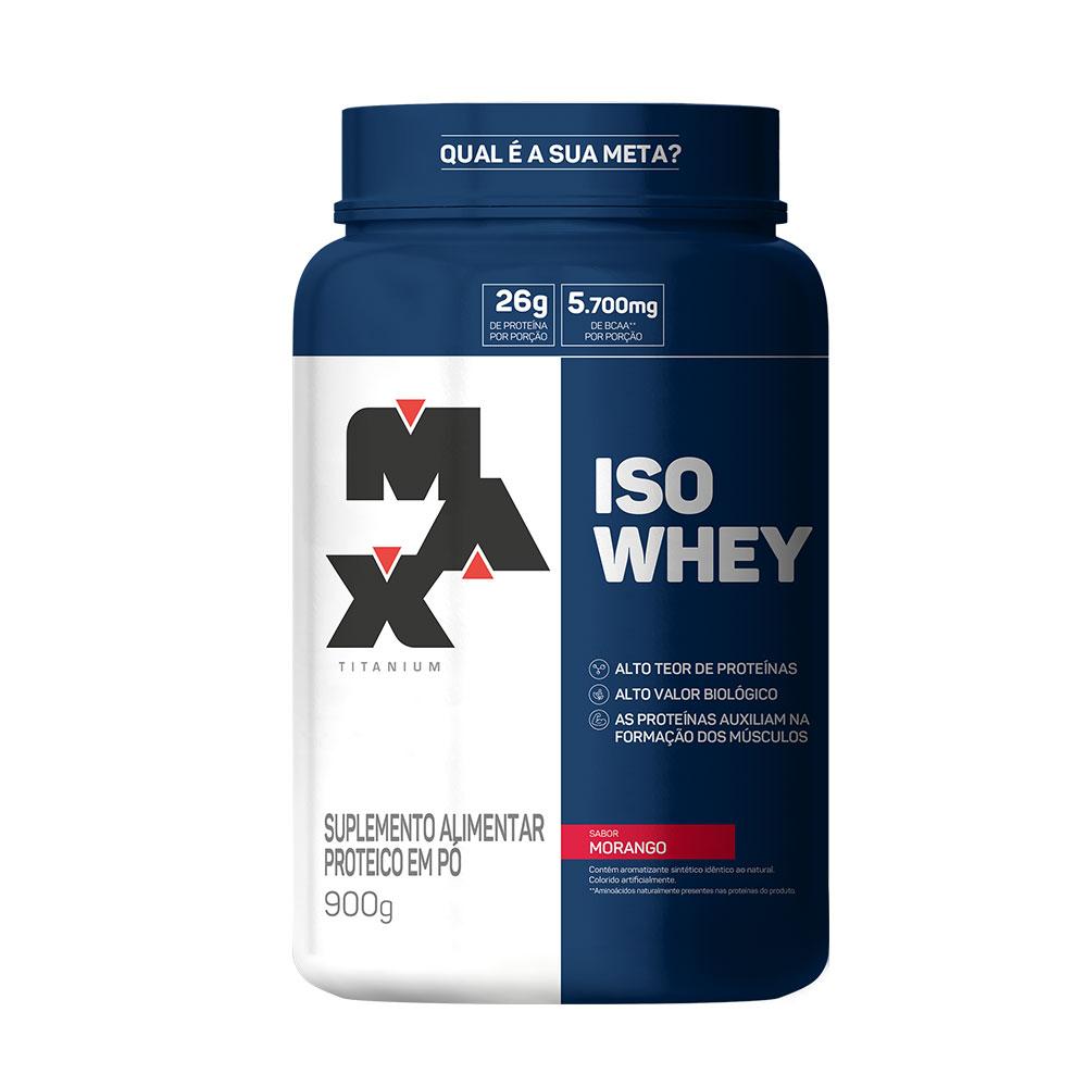 ISO Whey morango  900g Max Titanium