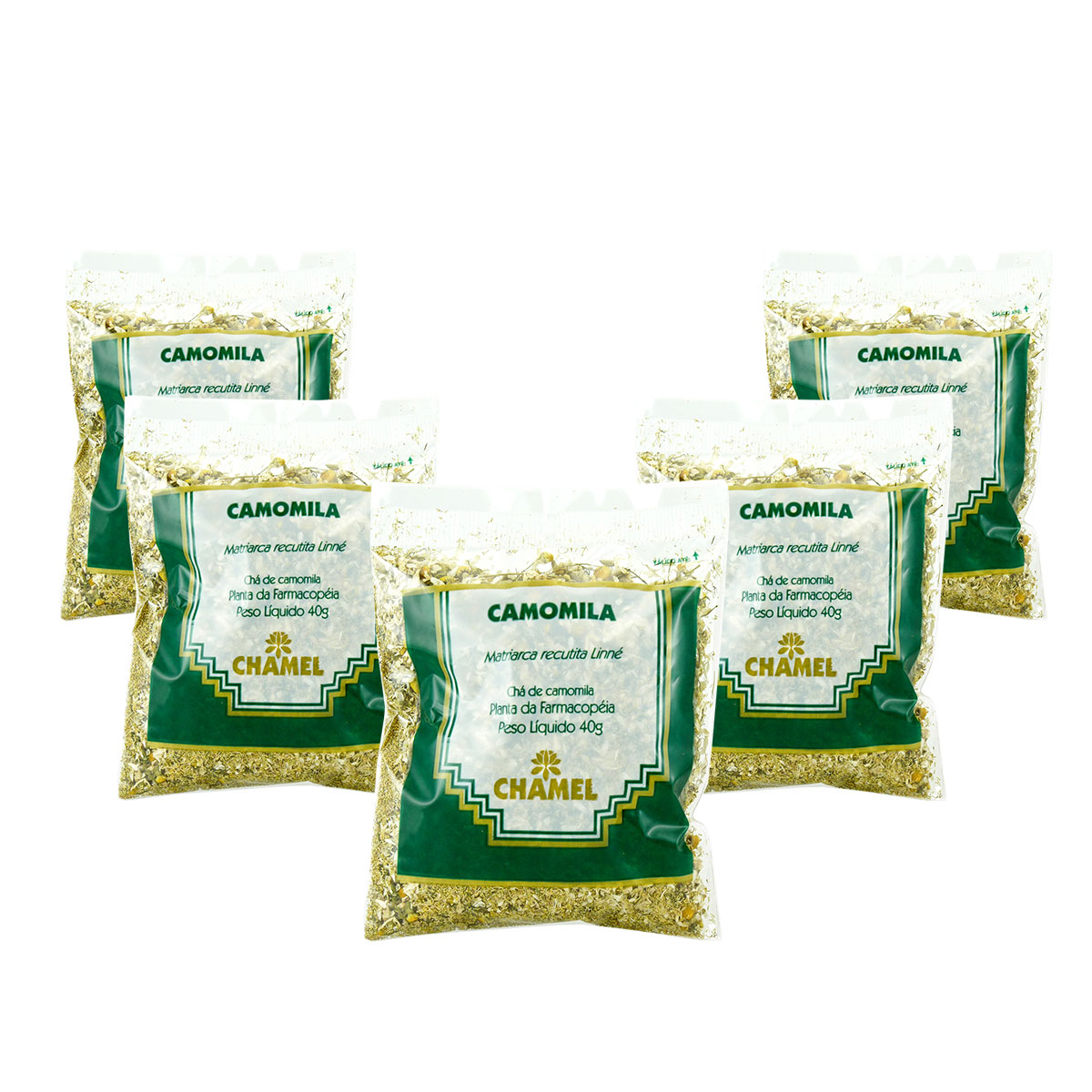 Camomila 40g Chamel com 5 Unidades - Chá-Folhas