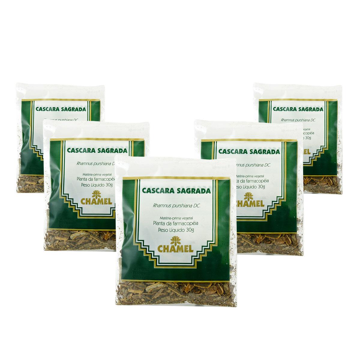 Cáscara Sagrada 30g Chamel com 5 Unidades - Chá-Cascas