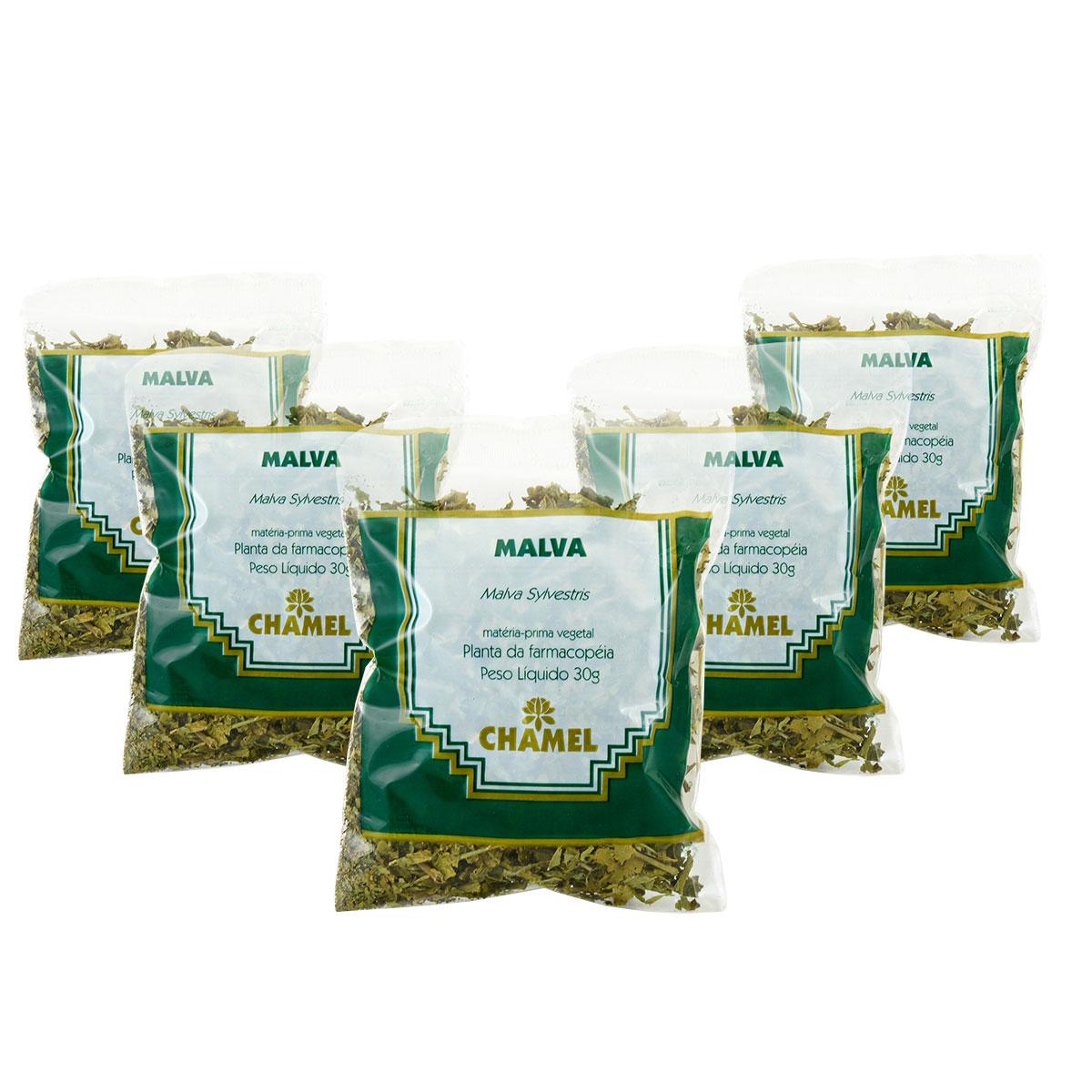 Malva 30g Chamel com 5 Unidades - Chá-Folhas