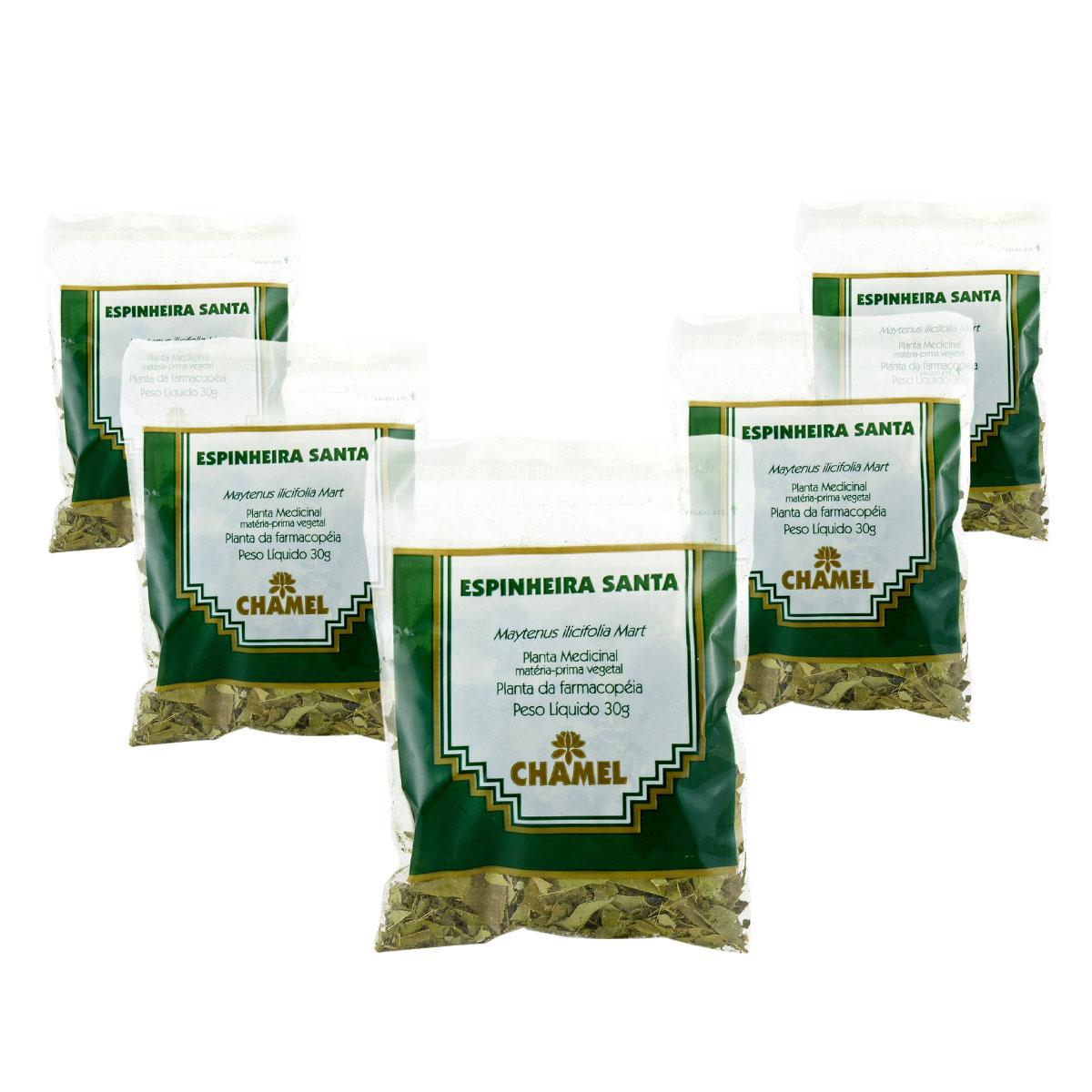 Espinheira Santa 30g Chamel com 5 unidades - Chá Folhas
