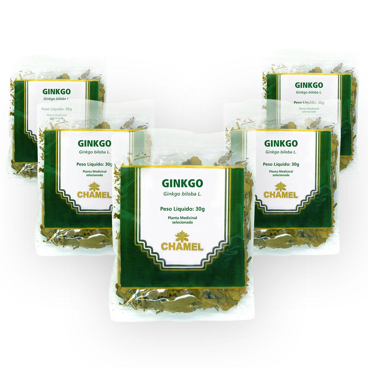 Ginkgo 30g Chamel com 5 Unidades - Chá-Folhas