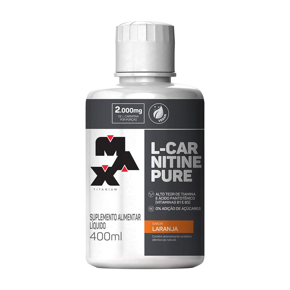 L-carnitine pure Laranja 400ml Max Titanium