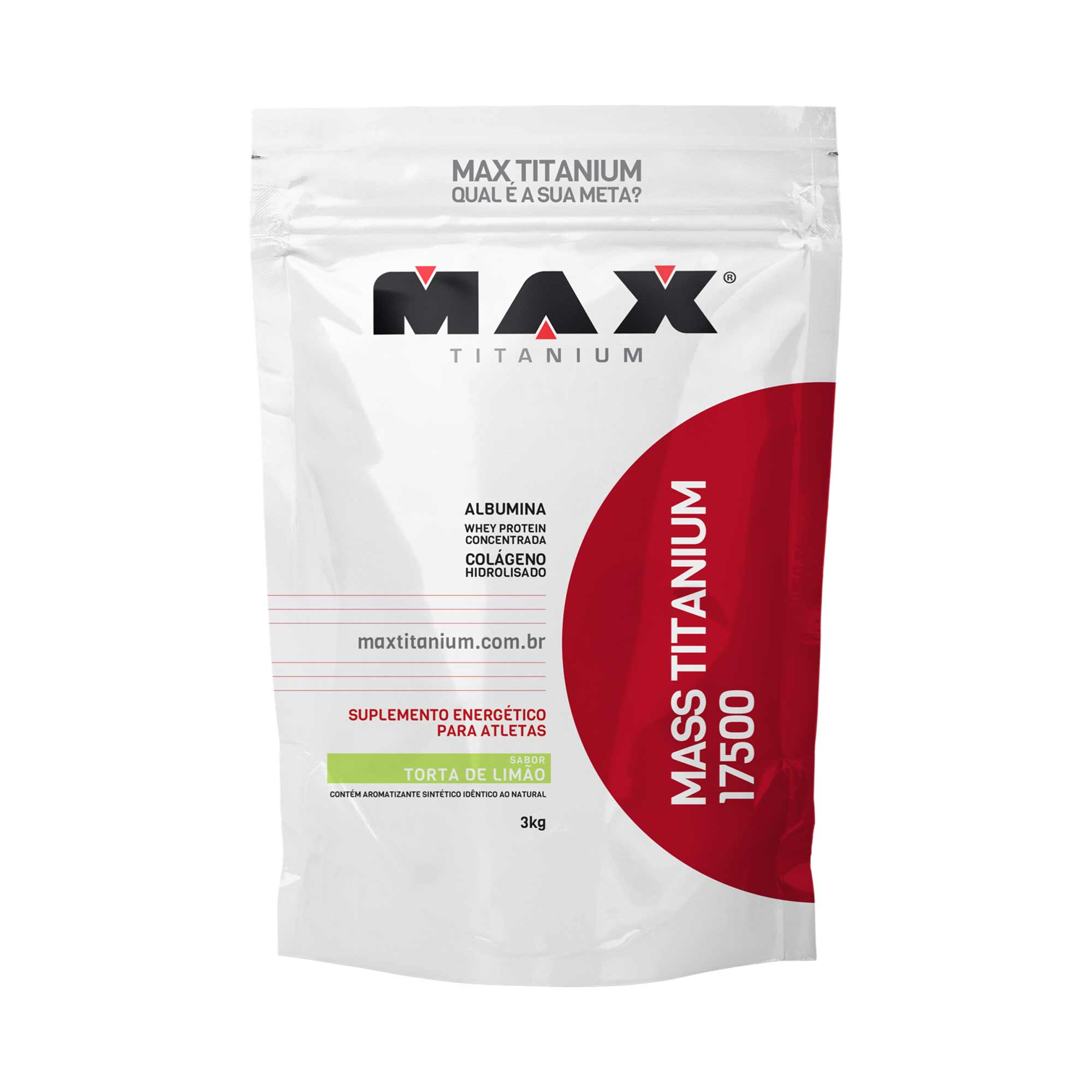 Mass titanium 17500 torta de limão 3kg Max Titanium