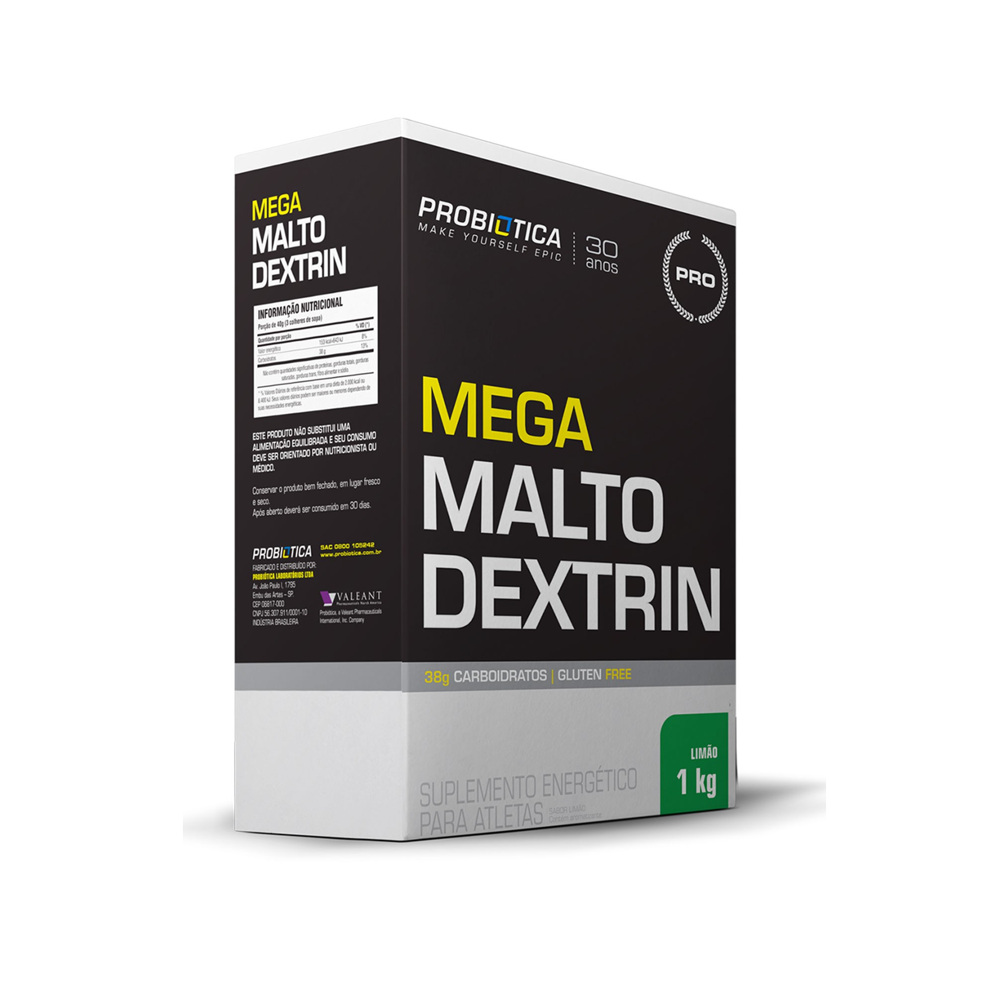Mega Maltodextrin Limão Probiotica  1kg