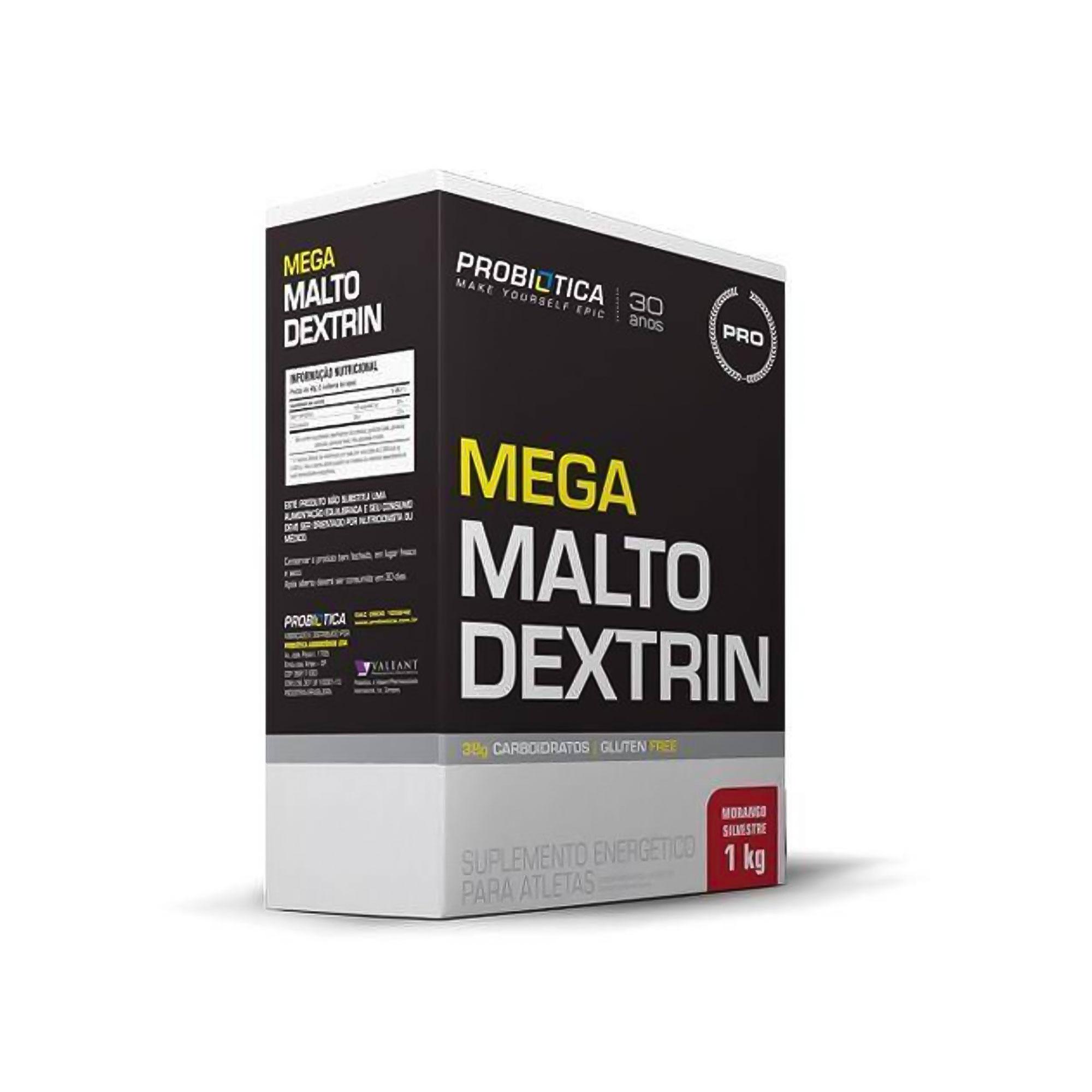 Mega Maltodextrin Morango Silvestre Probiotica  1kg