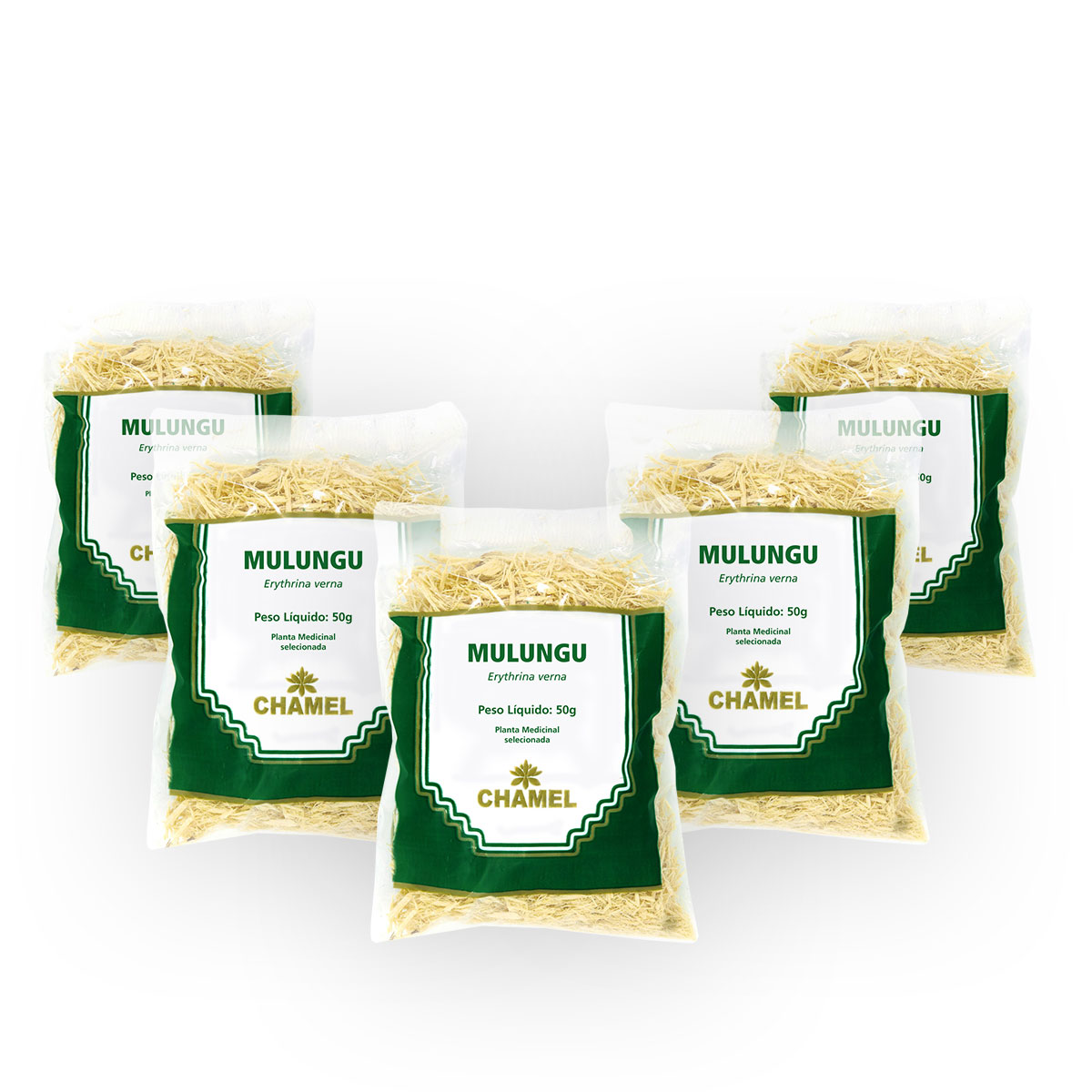 Mulungu 50g Chamel com 5 Unidades - Chá -Cascas