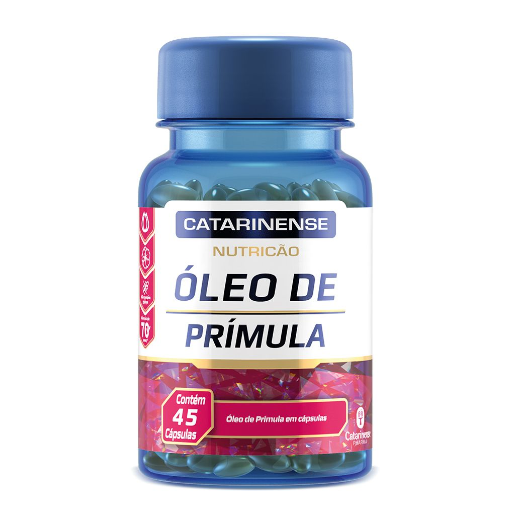 Óleo de Prímula 500mg Catarinense – 45 cápsulas
