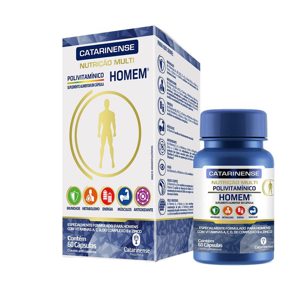 Polivitamínico Homem Catarinense 60 comprimidos