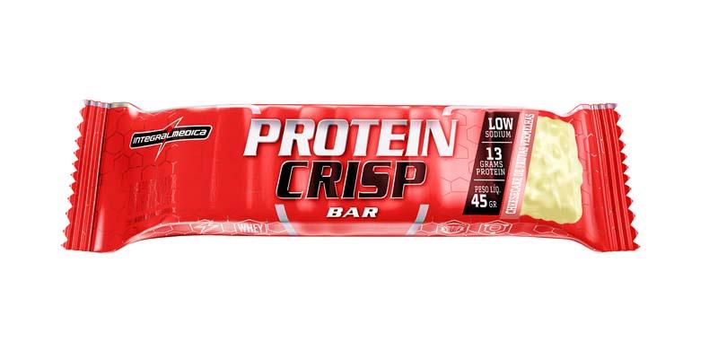 Protein Crips Bar Cheesecake de frutas vermelhas 45g Integralmedica