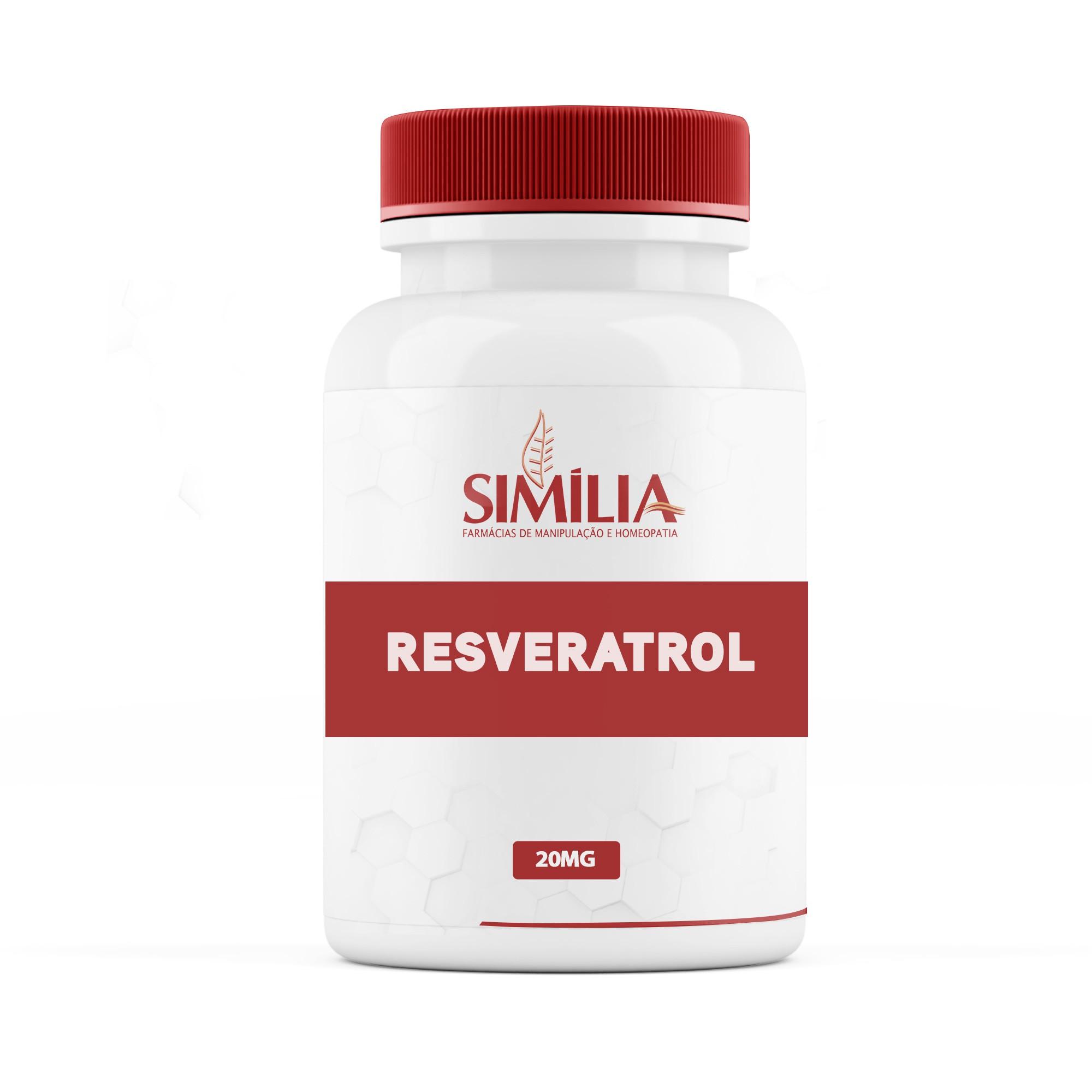 Resveratrol 20mg 60 Cápsulas