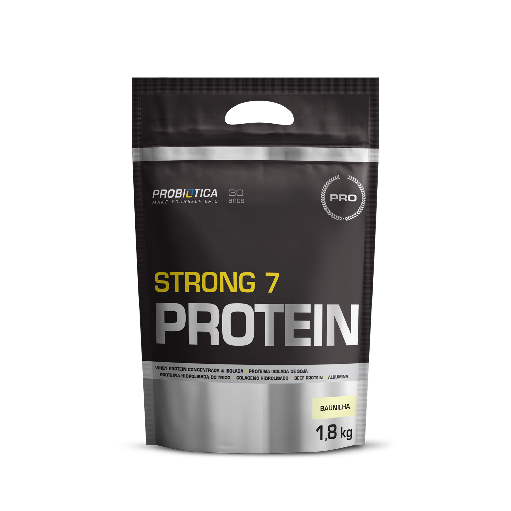 Strong 7 Protein Refil Baunilha Probiotica  1,8kg