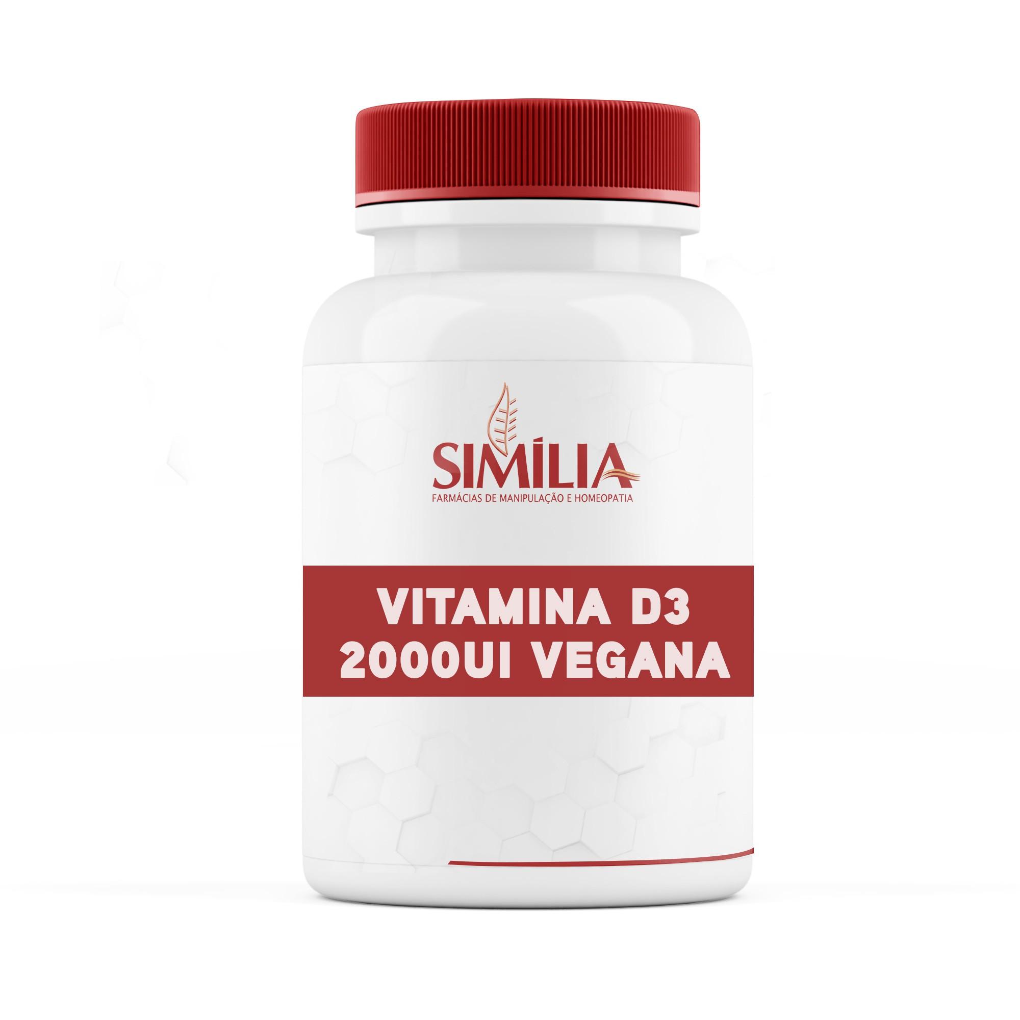 Vitamina D3 2000ui Vegana - 30 cápsulas