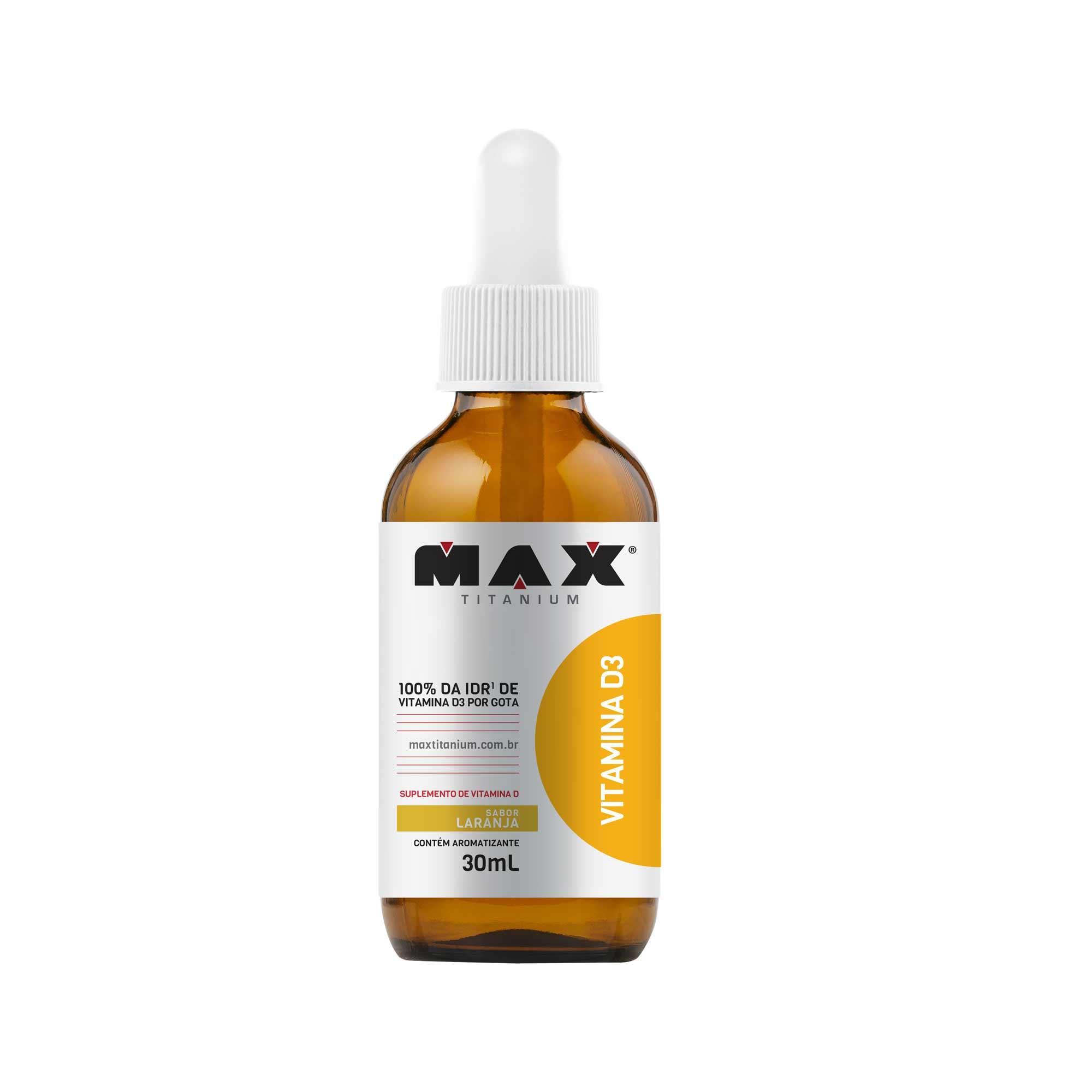 Vitamina D3 laranja 30ml Max Titanium