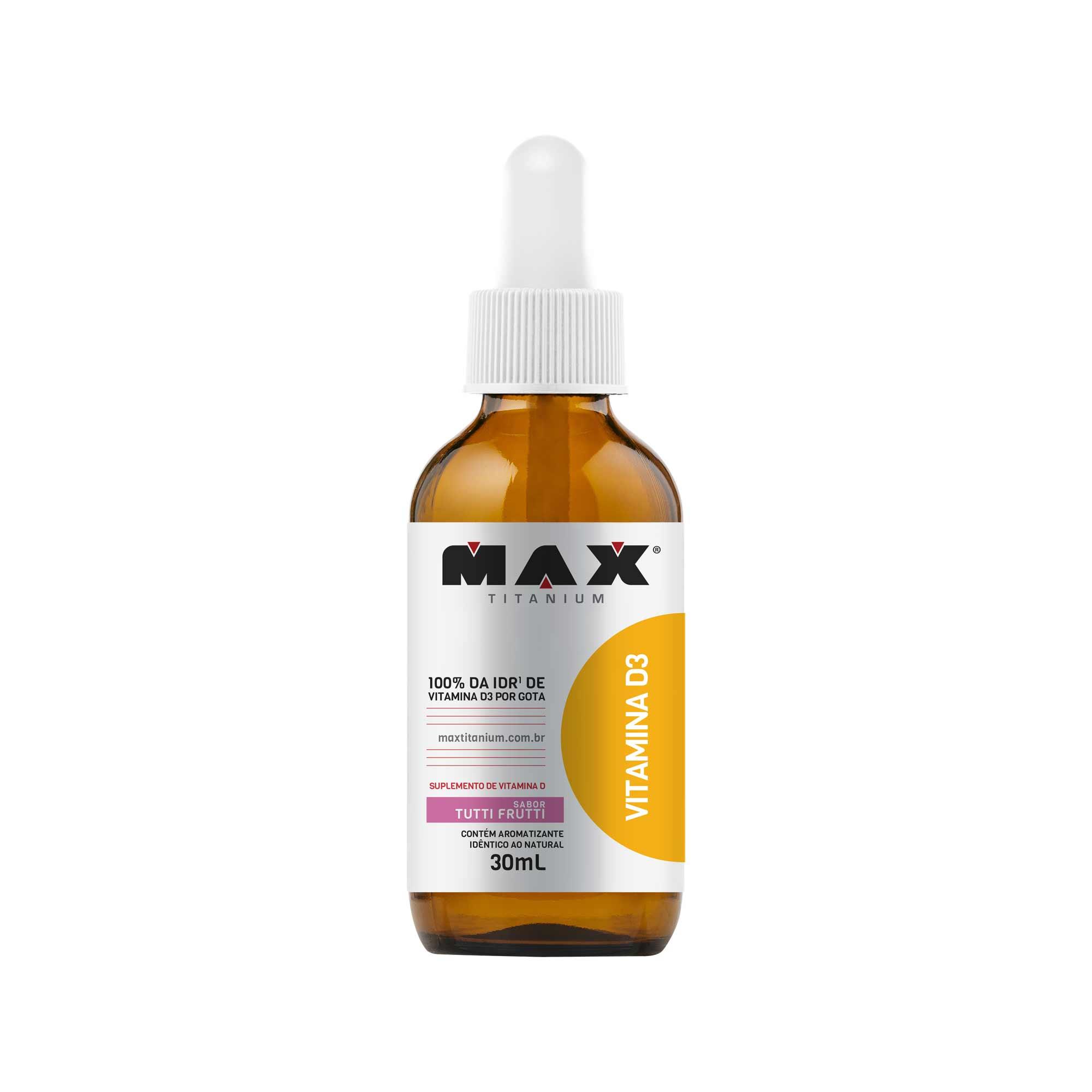 Vitamina D3 tuti frutti 30ml Max Titanium