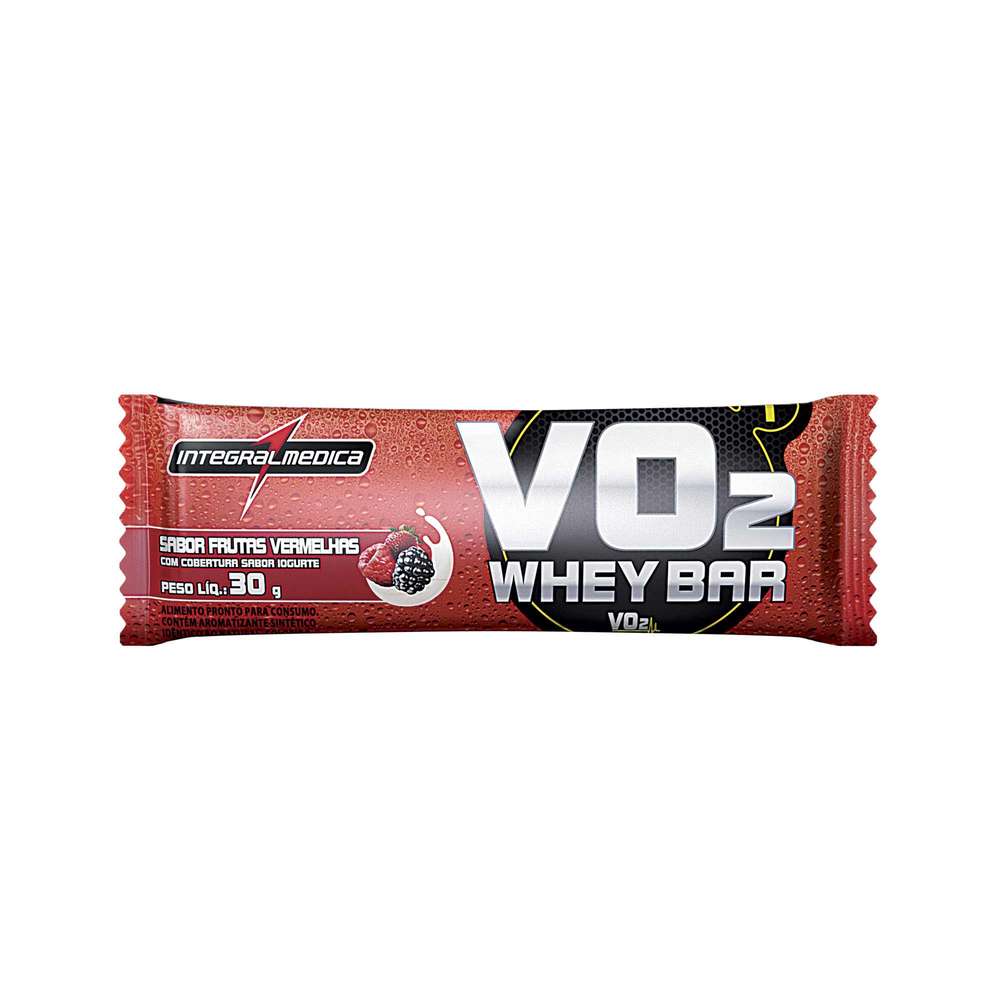 VO2 Barra Proteica Frutas vermelhas com iogurte 30g Integralmedica