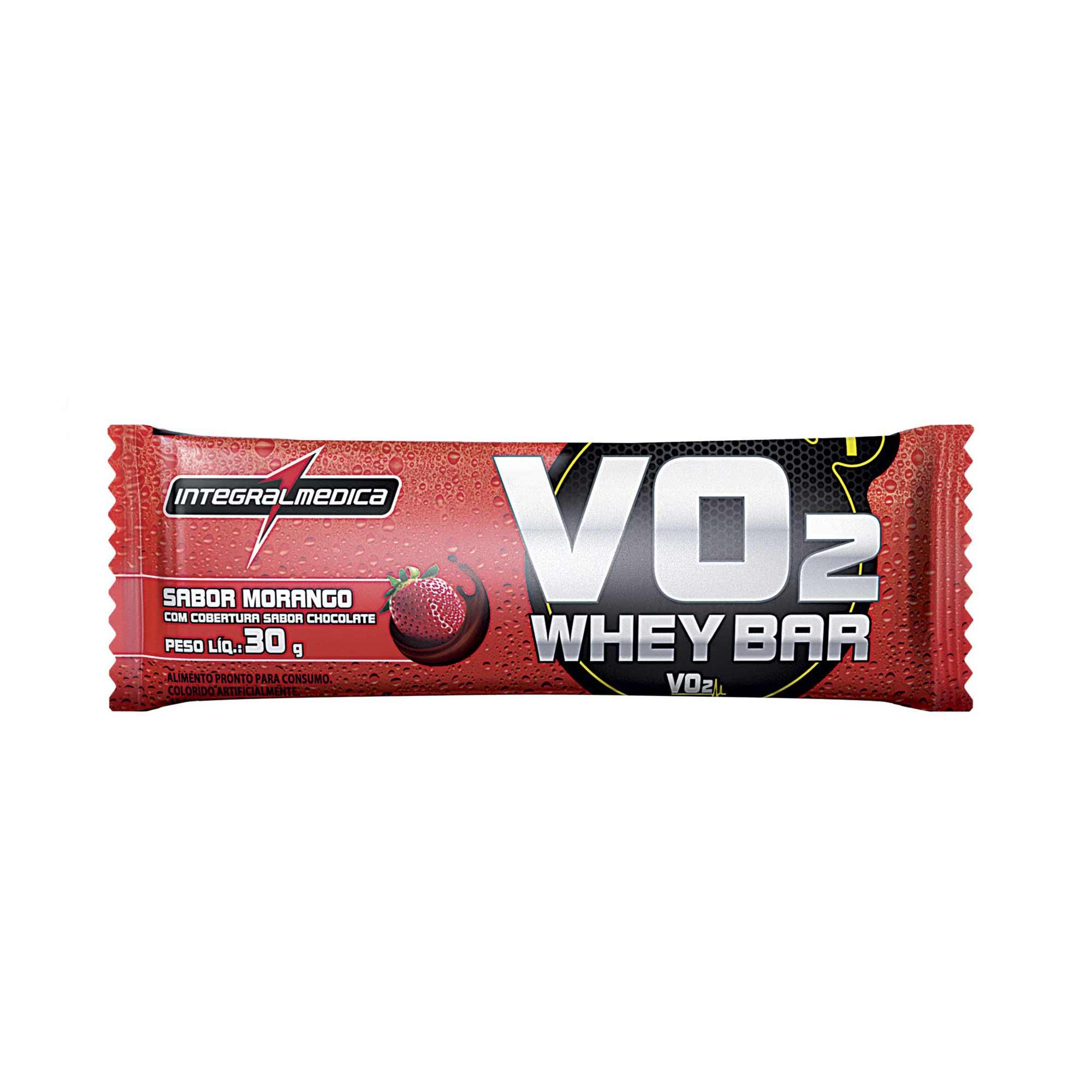 VO2 Barra Proteica Morango 30g Integralmedica